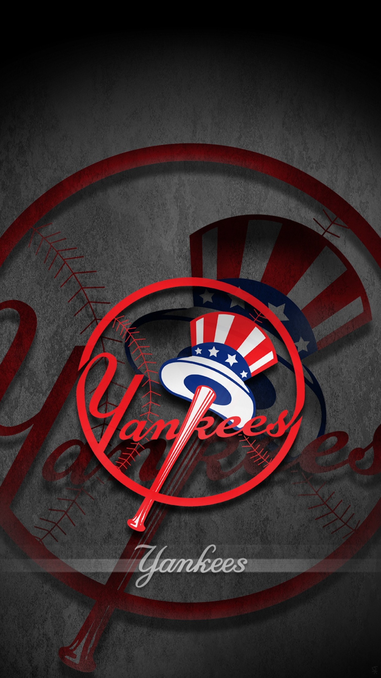View Larger Image New York Yankees iPhone Wallpaper Logo