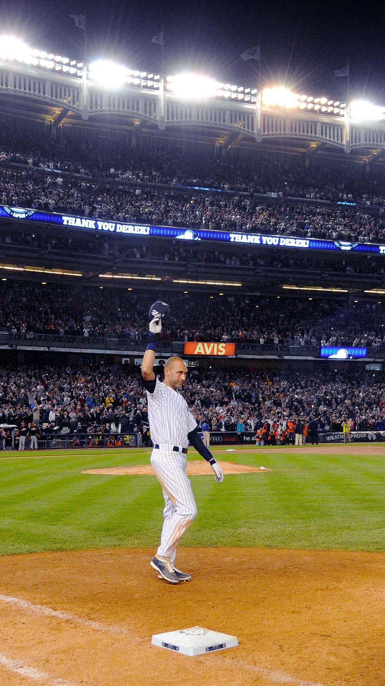 Derek Jeter Walk Off Single New York Yankees Android Wallpaper