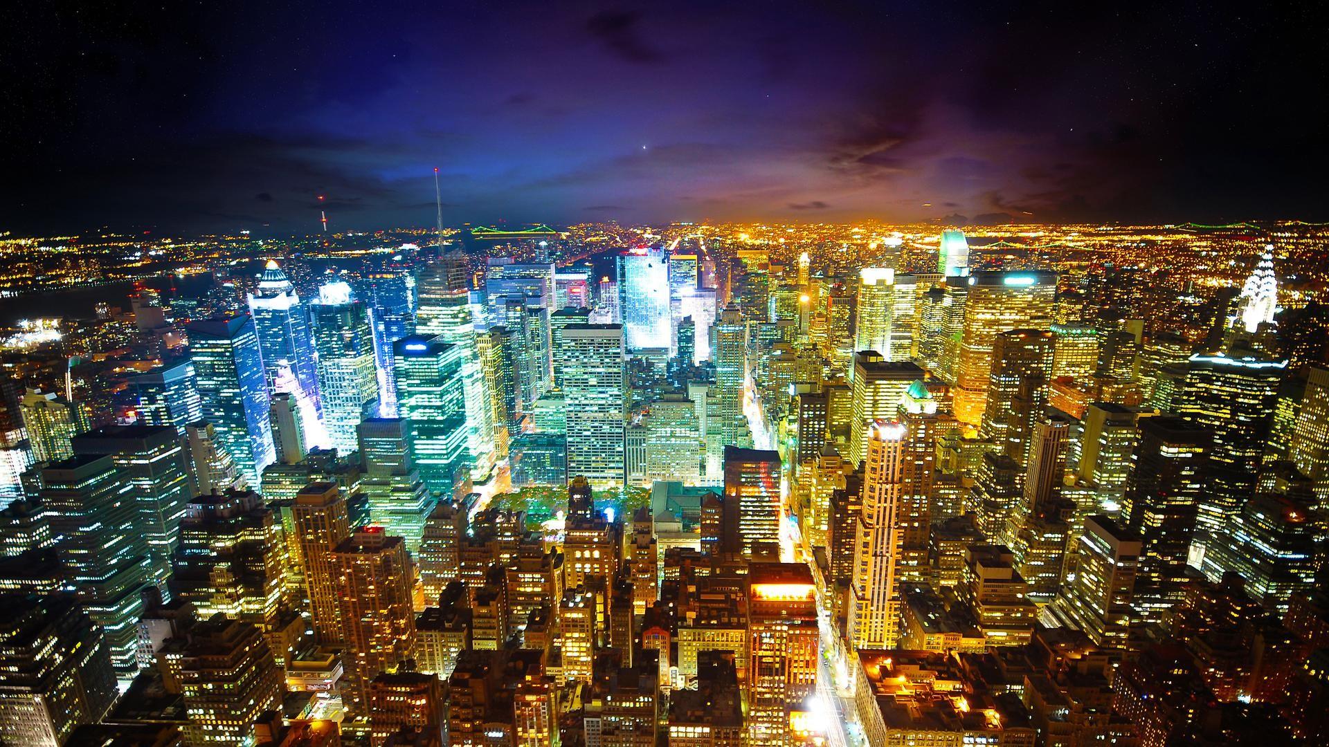 Hd Wallpaperwallpaper New York Yankees Wallpaper: New York City At Night  Widescreen Hd Wallpaper Pocketyguyscom