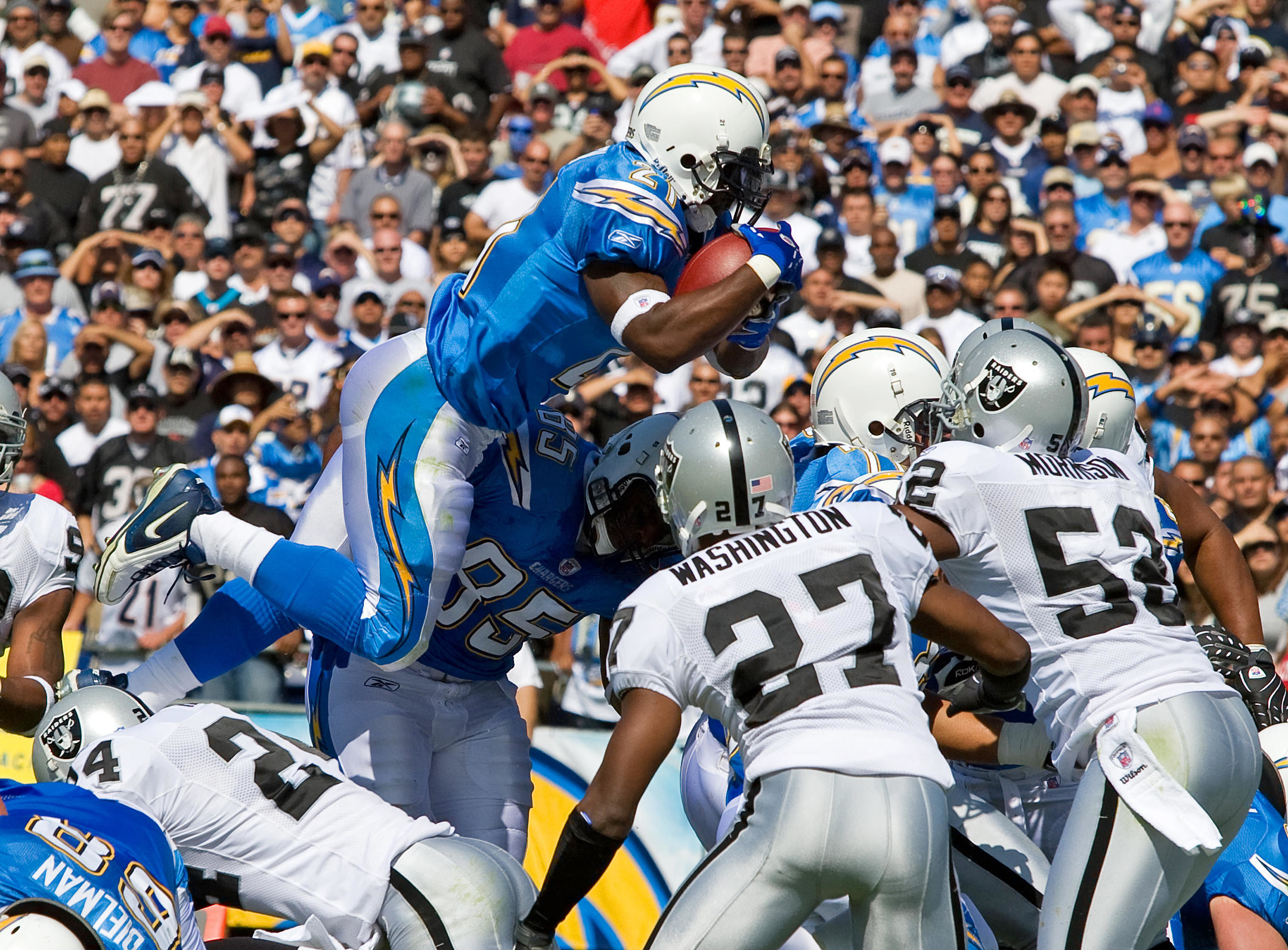 The Nominees for Top LaDainian Tomlinson Photo are…   Los Angeles Chargers