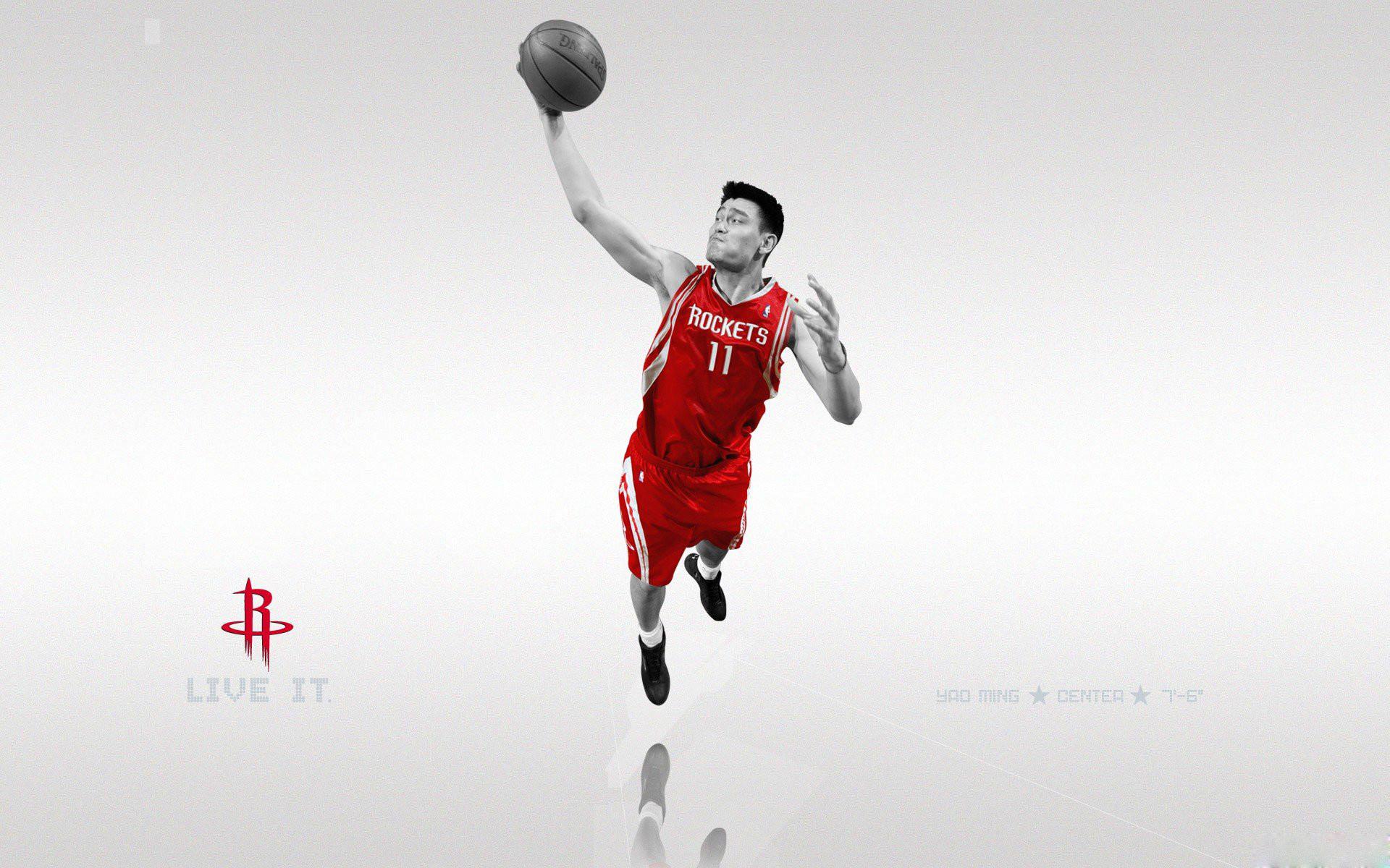 Nba basketball yao ming houston houston rockets rockets sports.
