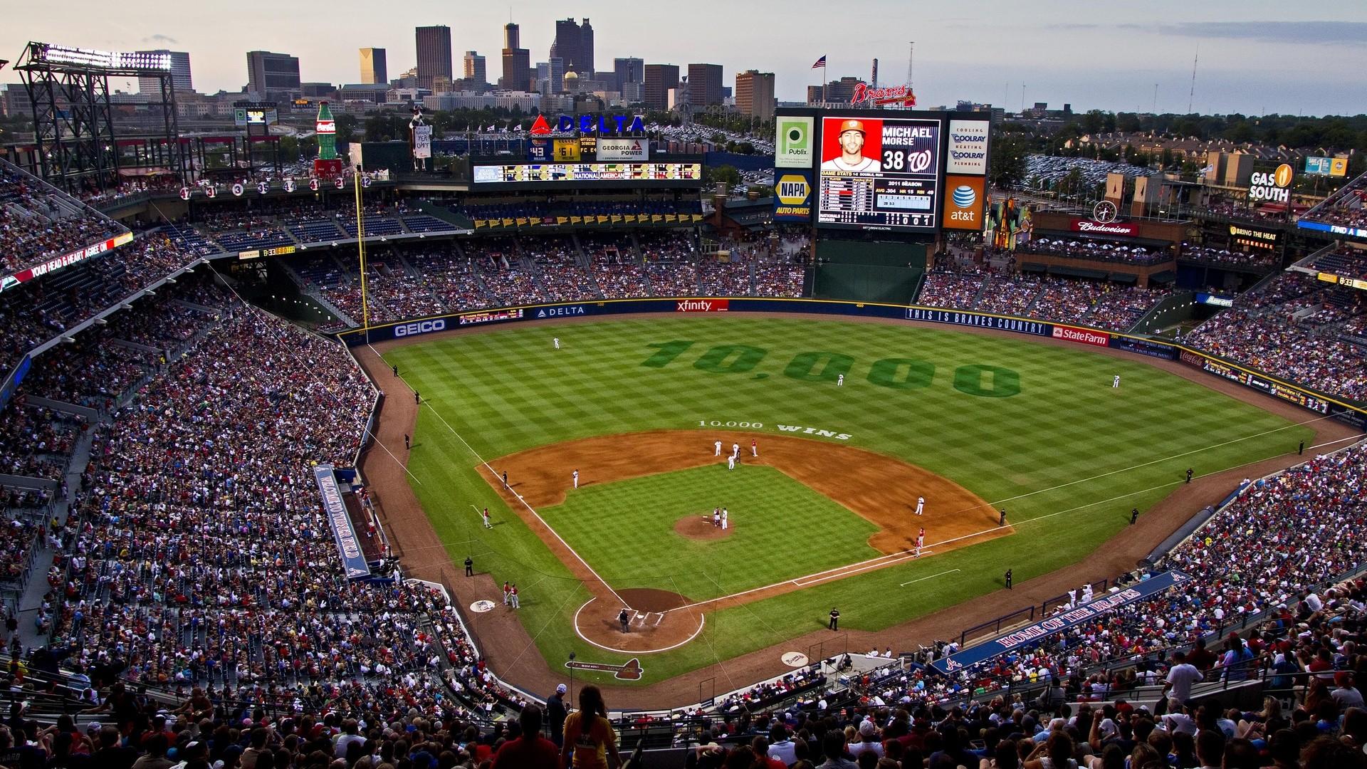 Sports, Atlanta Braves Stadium, Braves, Baseball, Atlanta Braves, Stadium,  Mlb