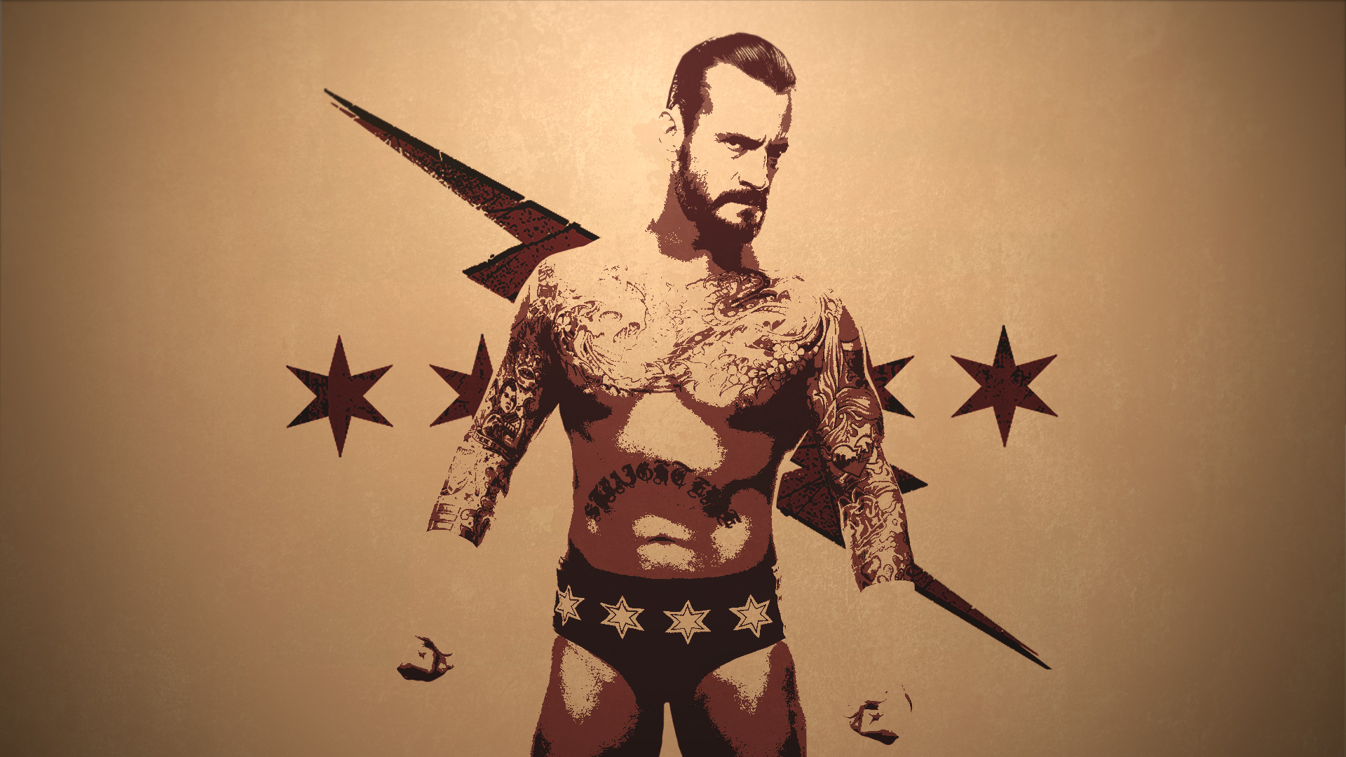 … CM Punk – Best in the World V2 by TheAwmgFox