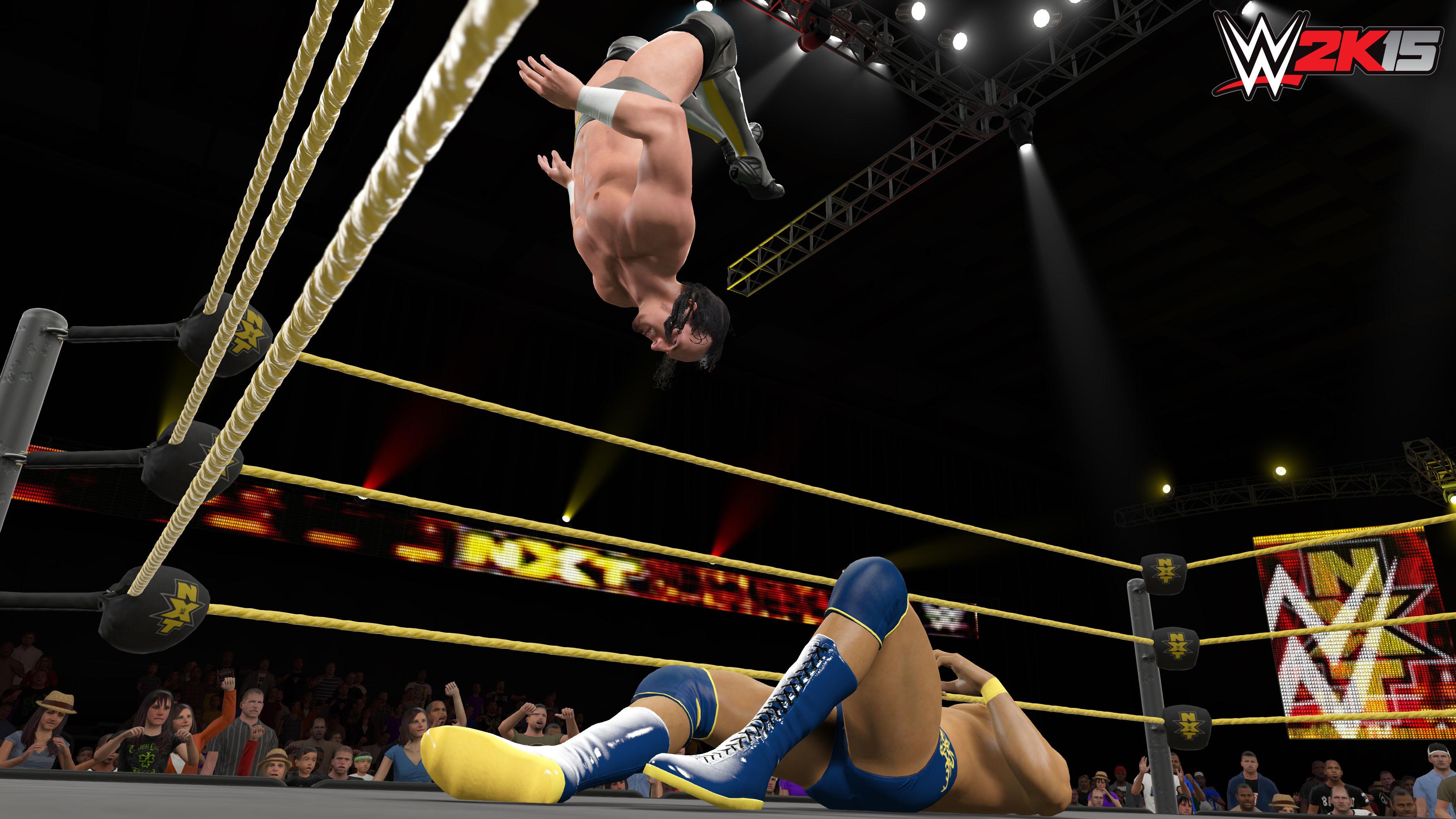 WWE 2K15 – CM Punk Flying Jump wallpaper