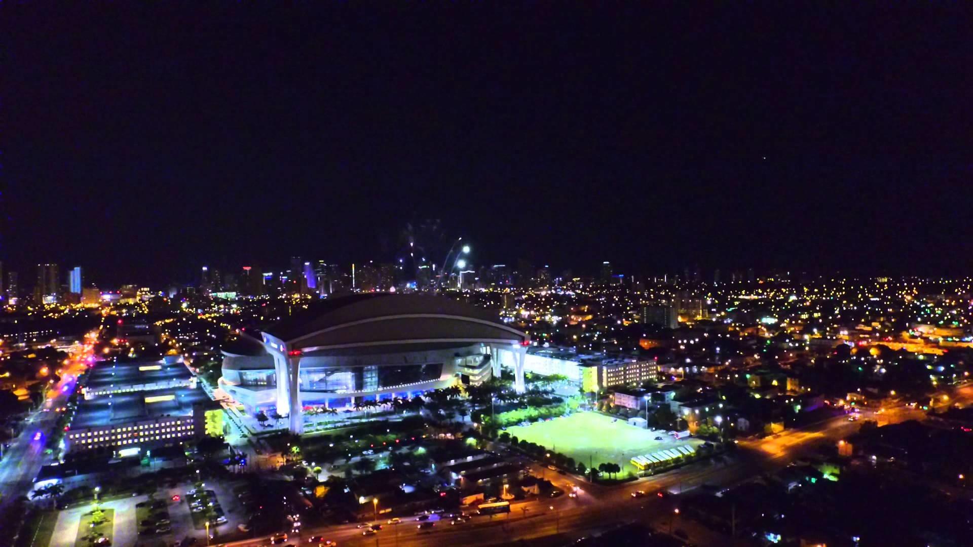 Miami marlins stadium fireworks live