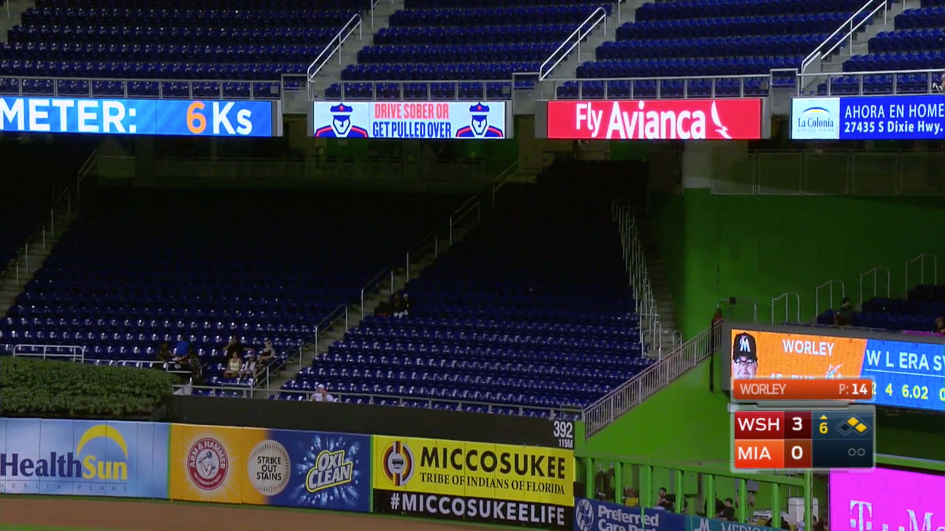 marlins park outfield
