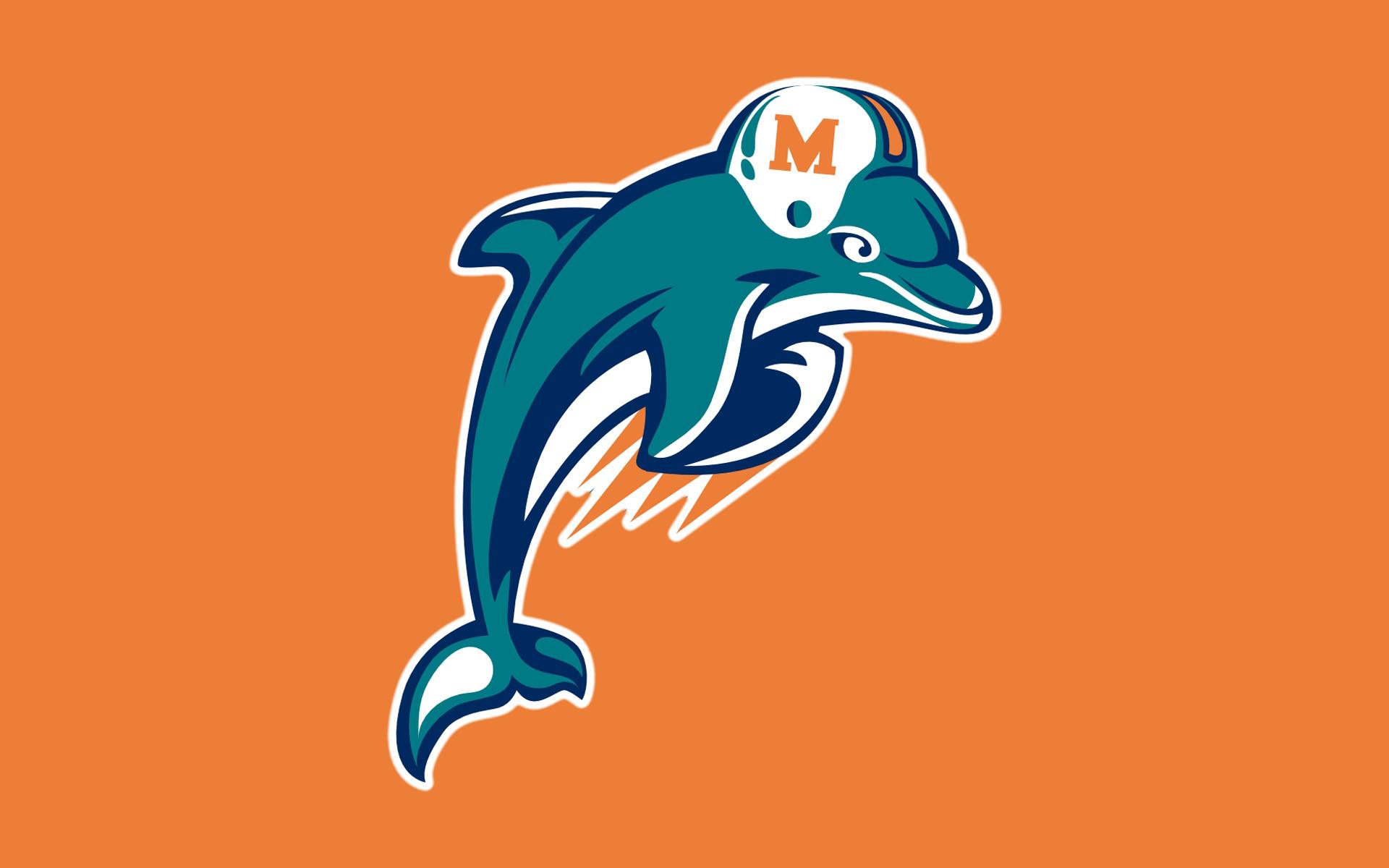 miami dolphins | NFL Miami Dolphins Logo Orange WIDE