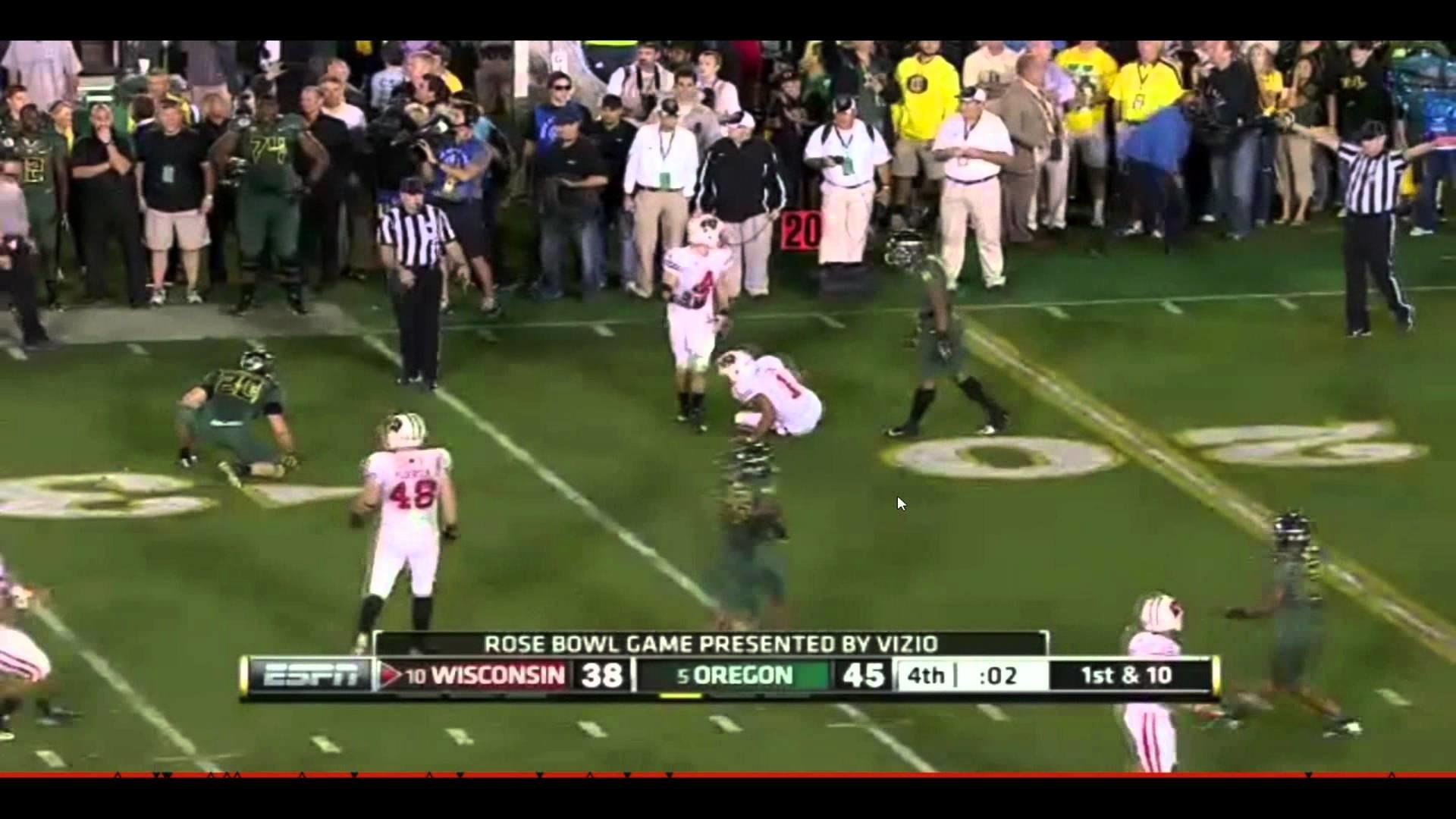 Wisconsin Badgers Rose Bowl Final Drive