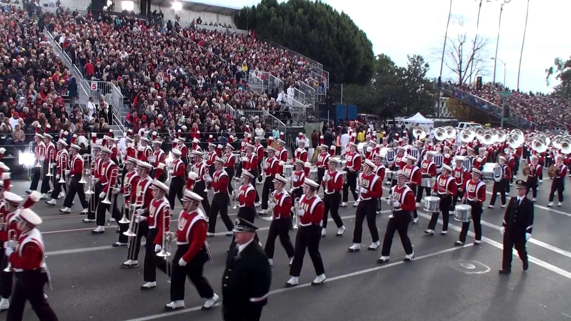 University of Wisconsin (UW) Badger Marching Band – 2013 Pasadena Rose  Parade – YouTube