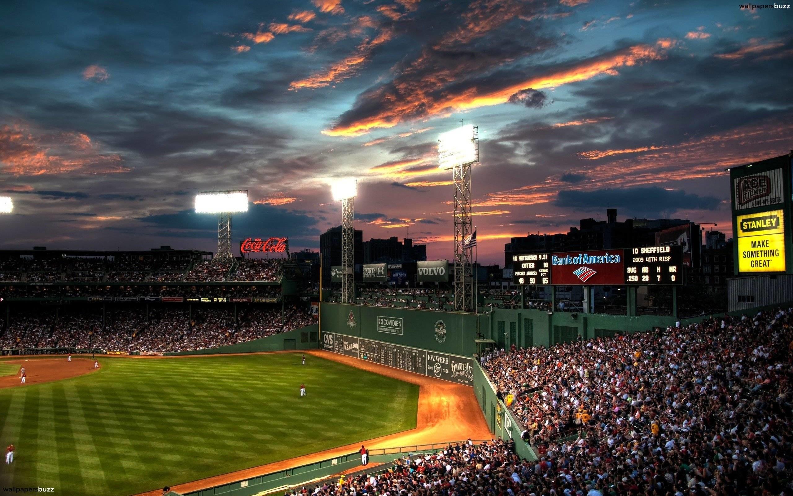 Wallpapers For > Baseball Stadium Background