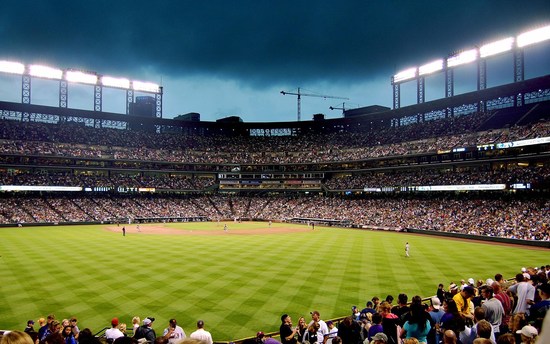 Baseball Stadium Widescreen Background.