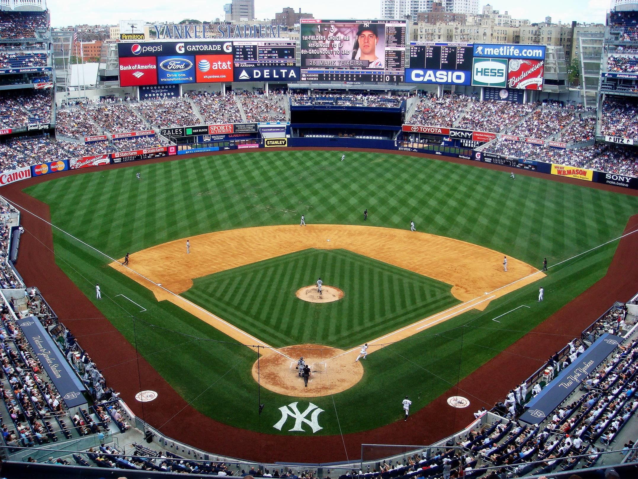 Images For > Yankee Stadium Wallpaper Night