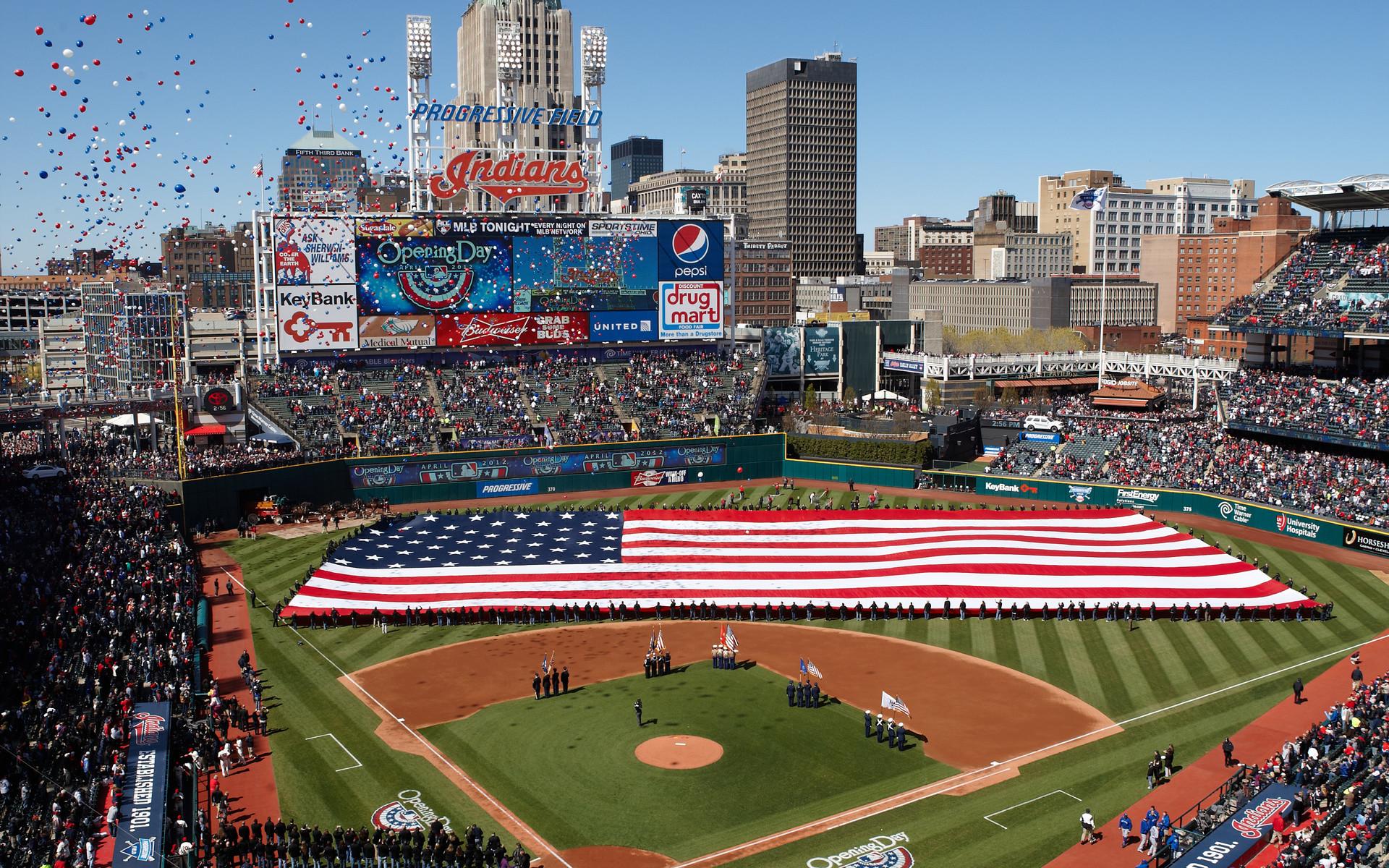 Stadium, Cleveland Indians Mlb Baseball Stadium, Baseball, Cleveland  Indians, Mlb, Sports