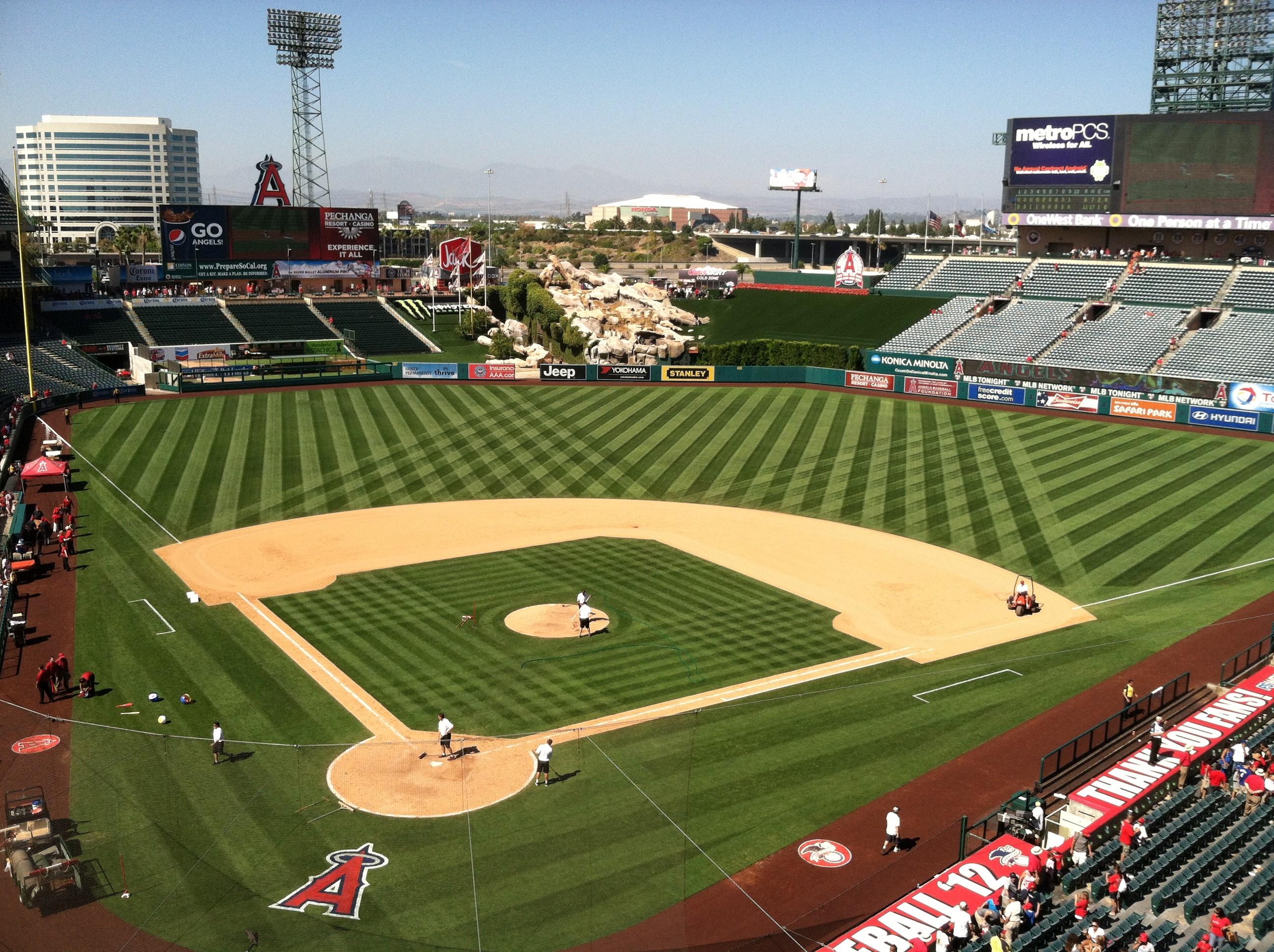 Angels Baseball Stadium Wallpaper The field of angel stadium by