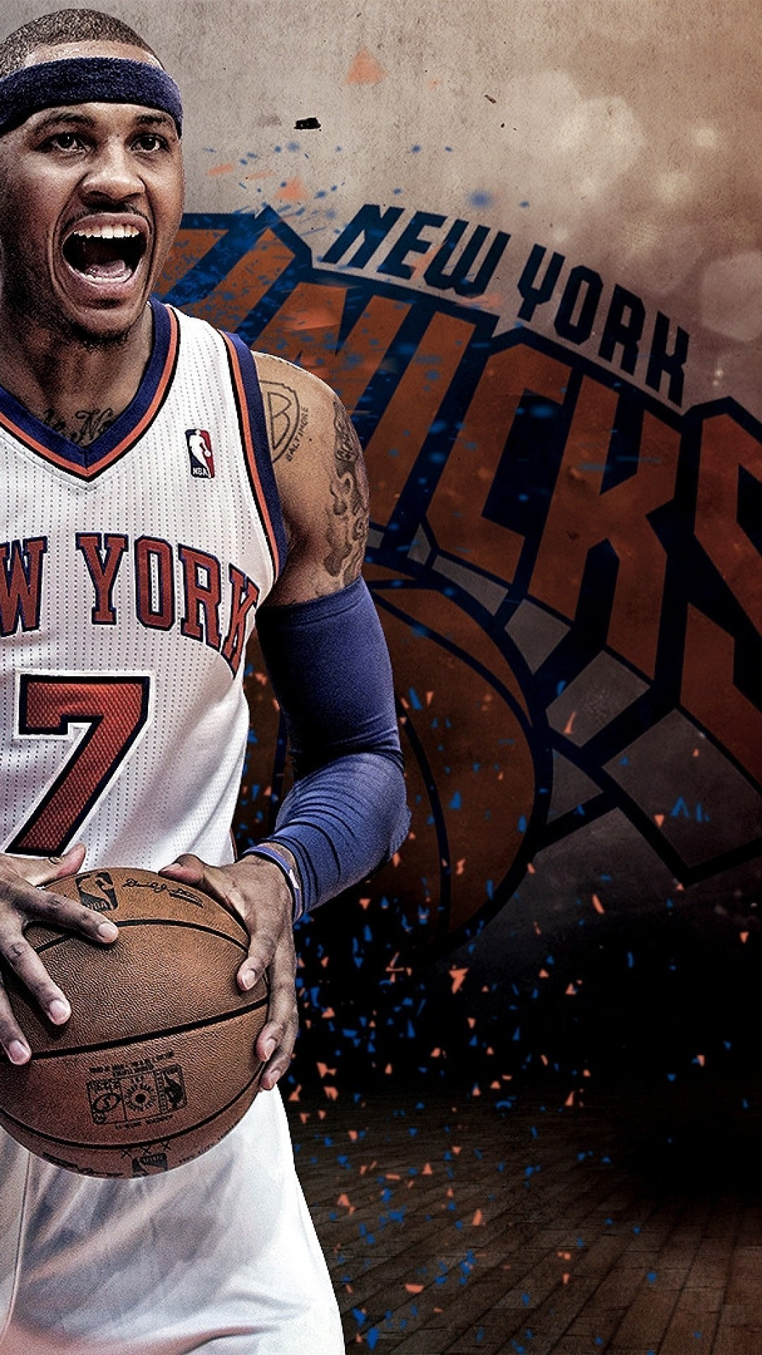 Carmelo Anthony NBA iPhone Wallpaper