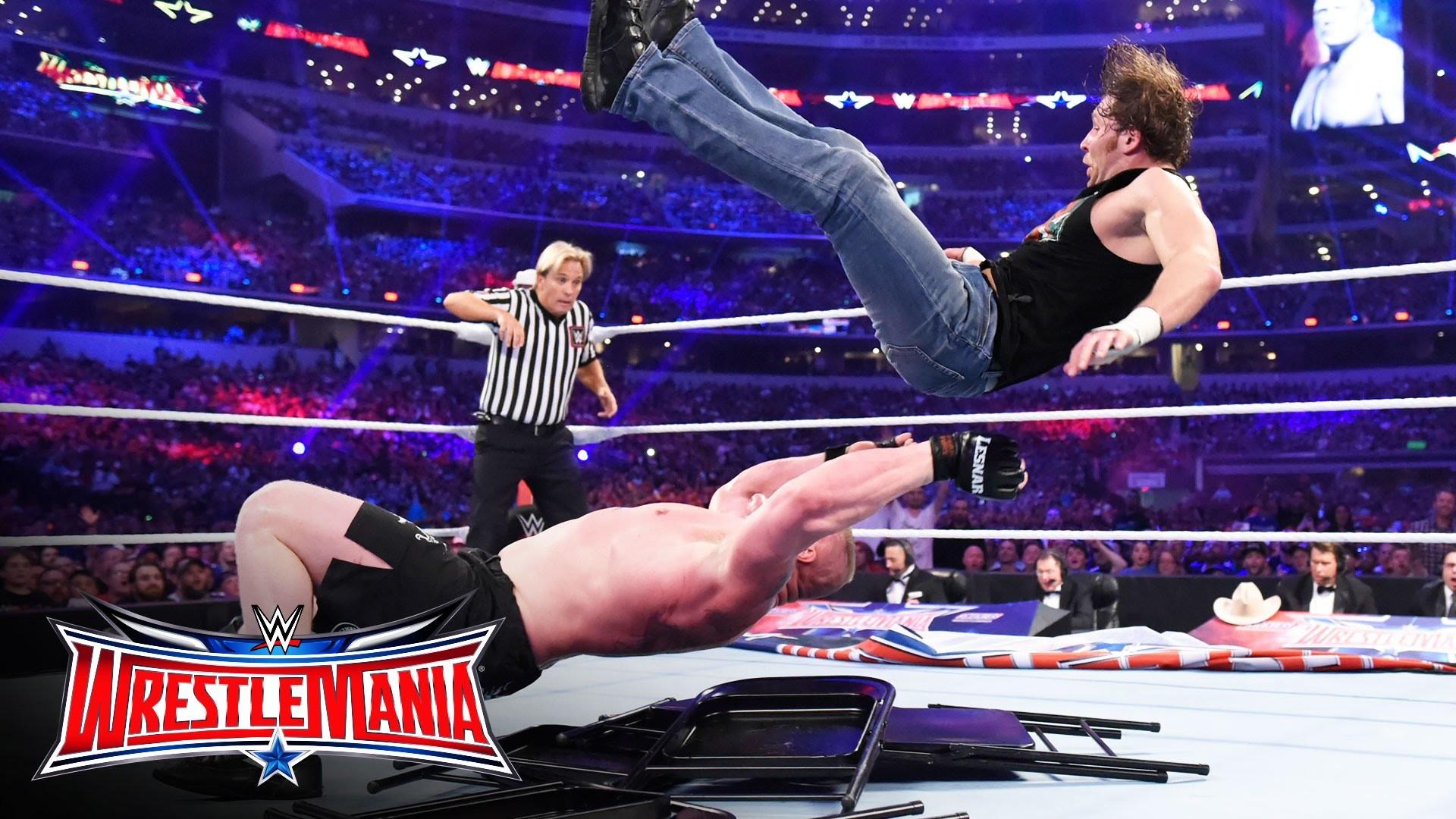 Dean Ambrose vs. Brock Lesnar – No Holds Barred Street Fight: WrestleMania  32 on WWE Network – YouTube