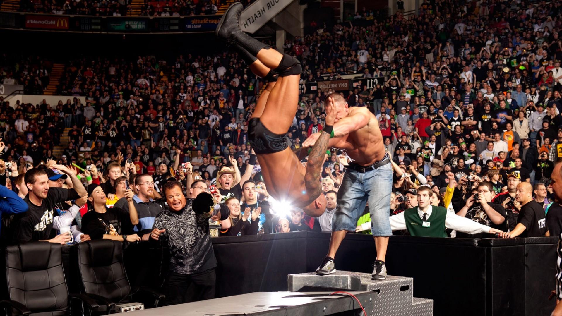 John-Cena-Fight-Against-The-Rock-WWE-Wrestling-