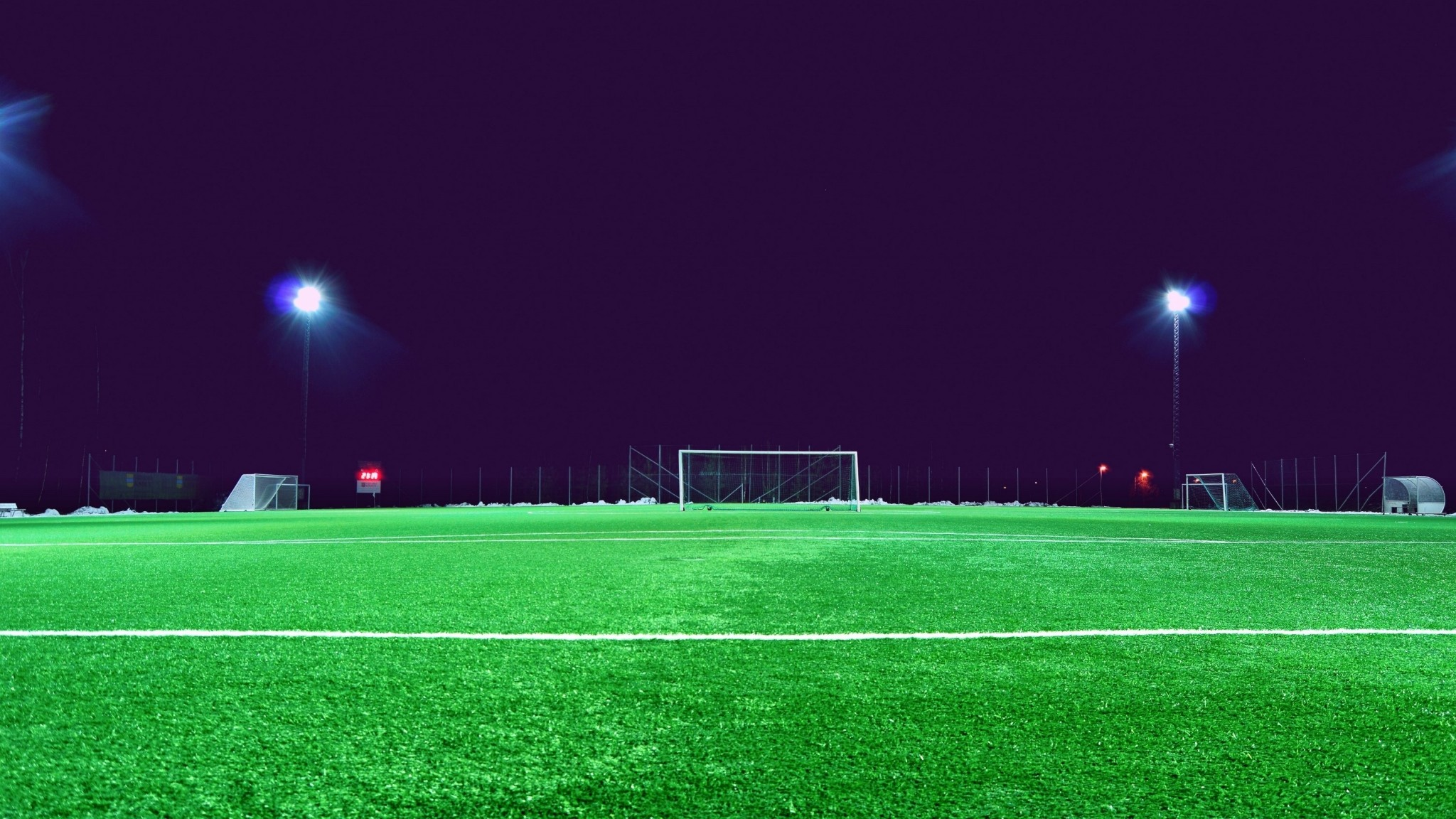 Wallpaper football field, lawn, gate