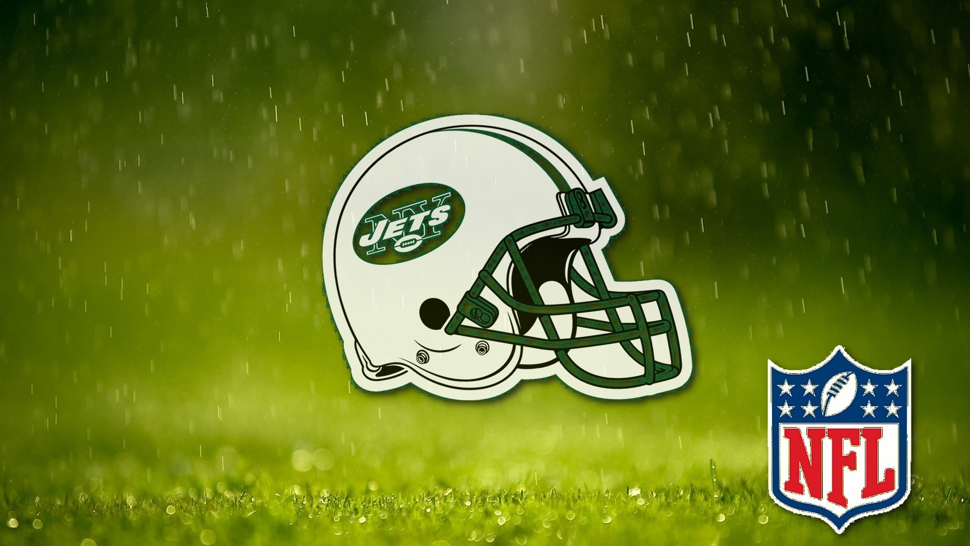 nfl ny jets helmet on field grass wallpapers 1920×1080