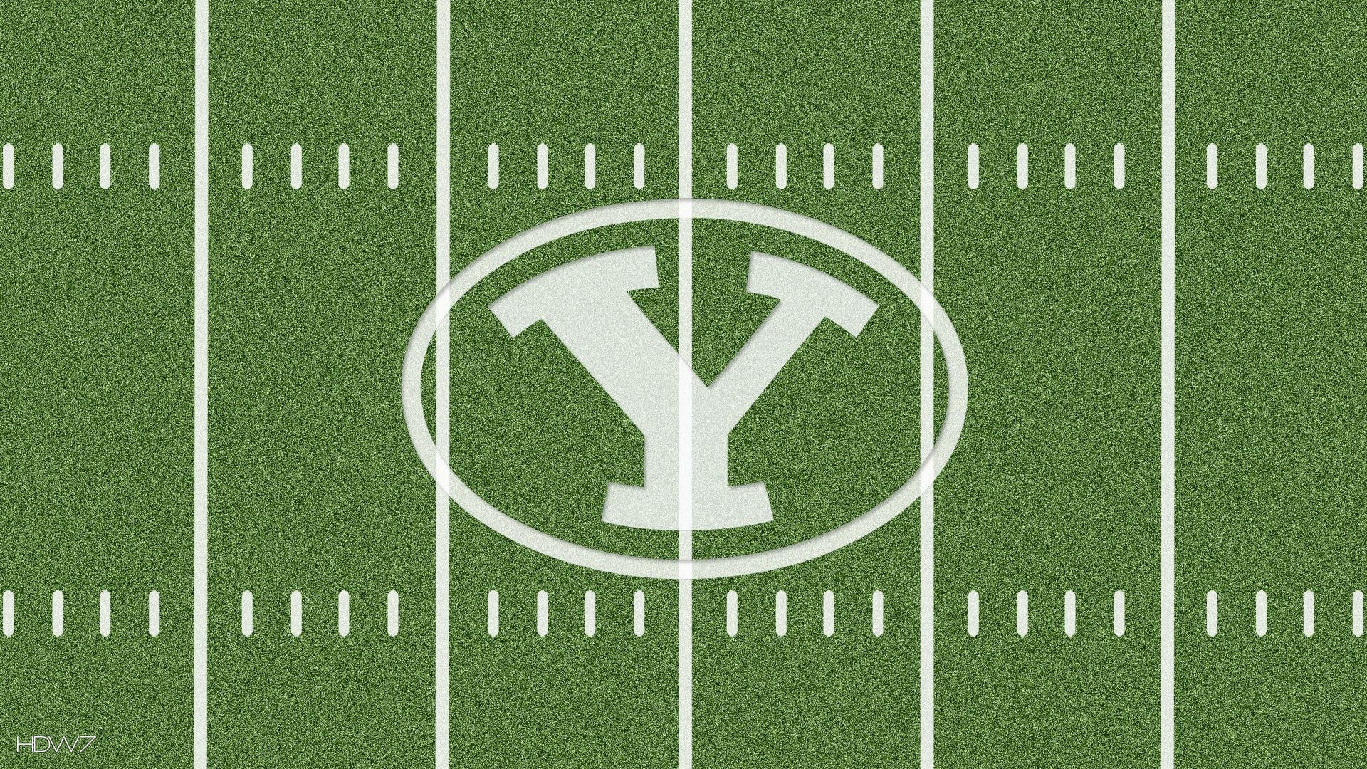 byu cougars logo on football field 1080p