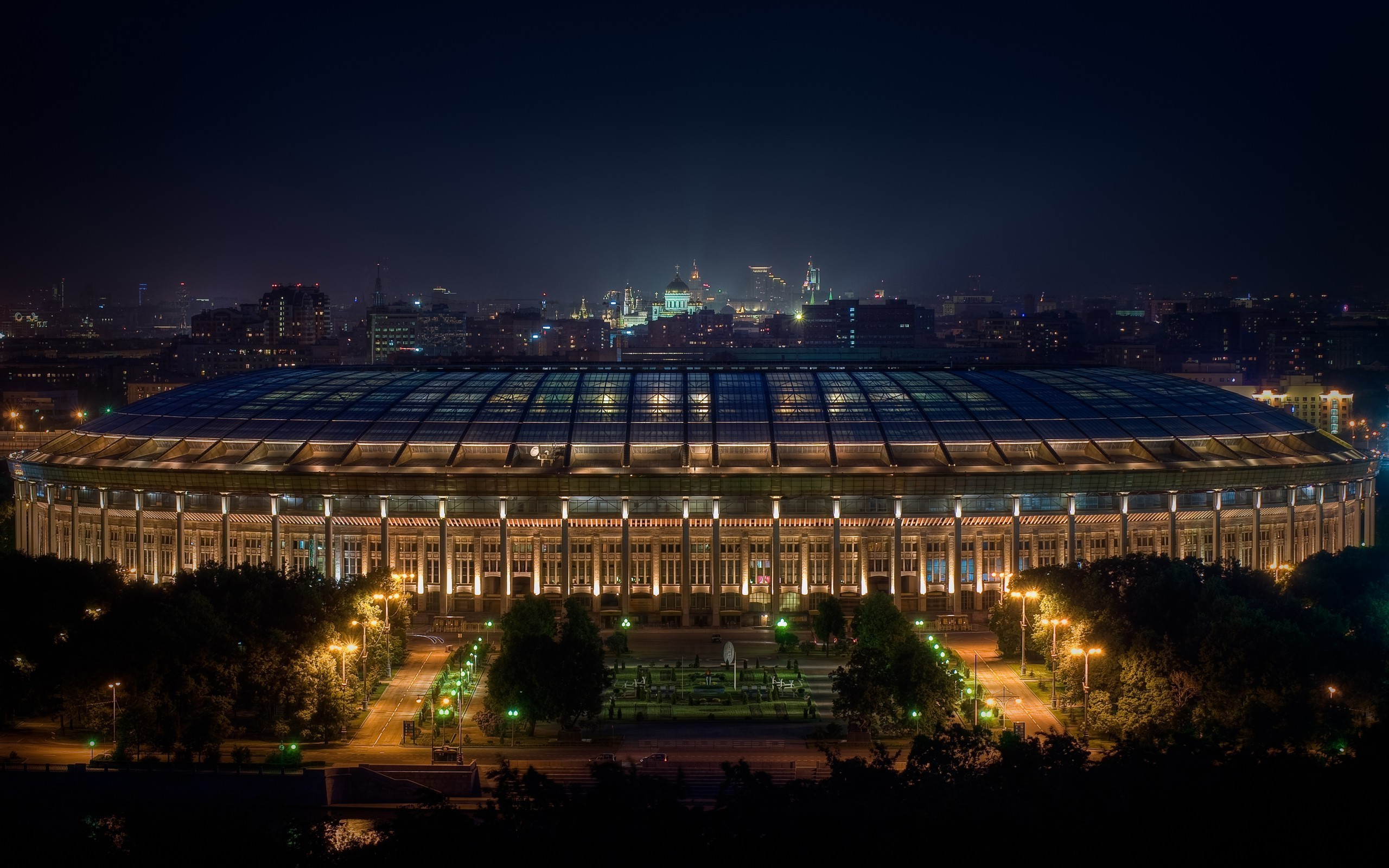 Cityscapes architecture buildings moscow stadium football field wallpaper