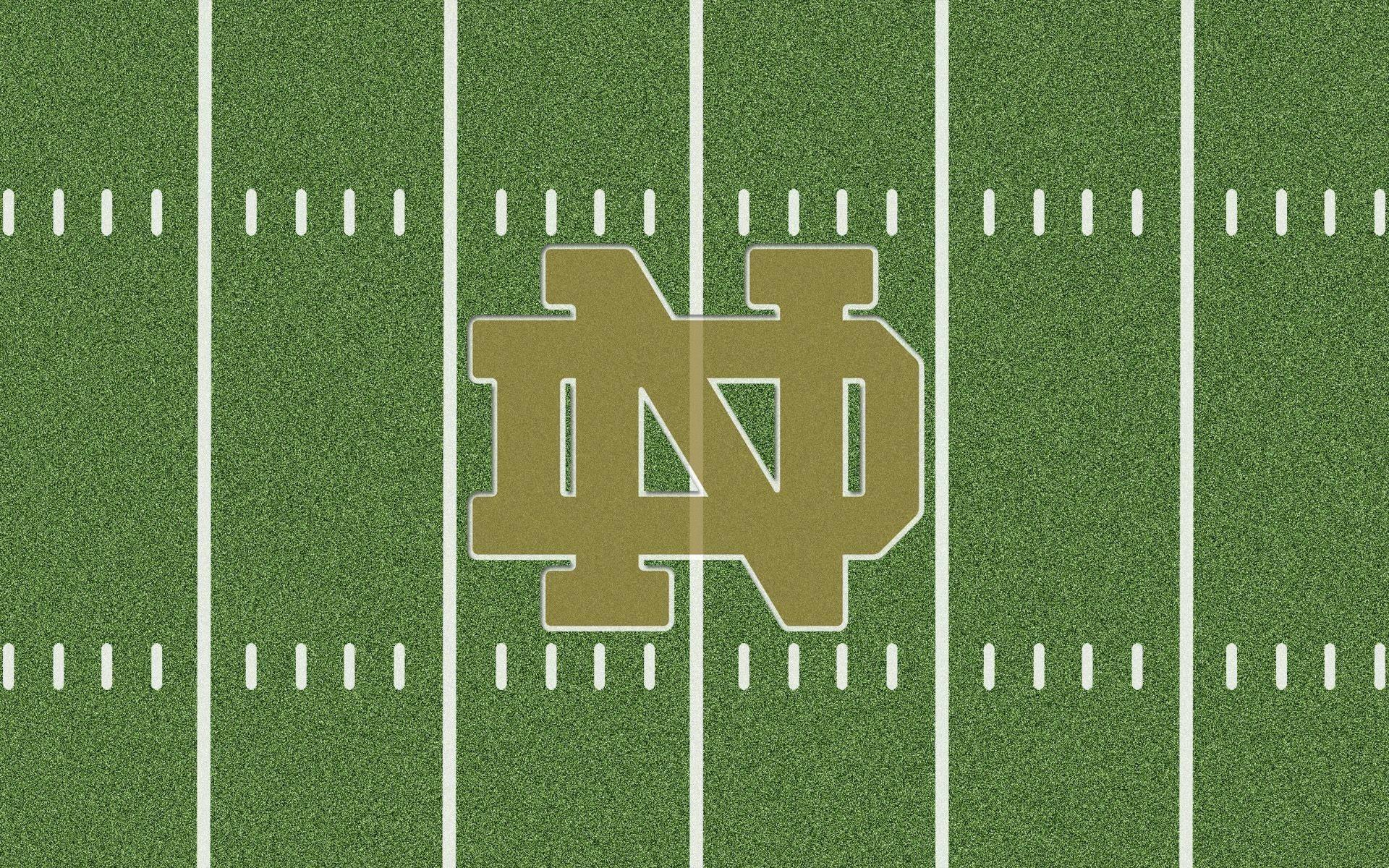 Notre Dame Fighting Irish Desktop Wallpaper Collection Field Logo .