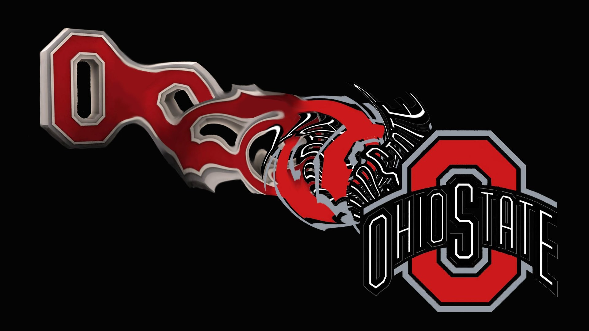 Ohio State Logo Wallpaper 3D.