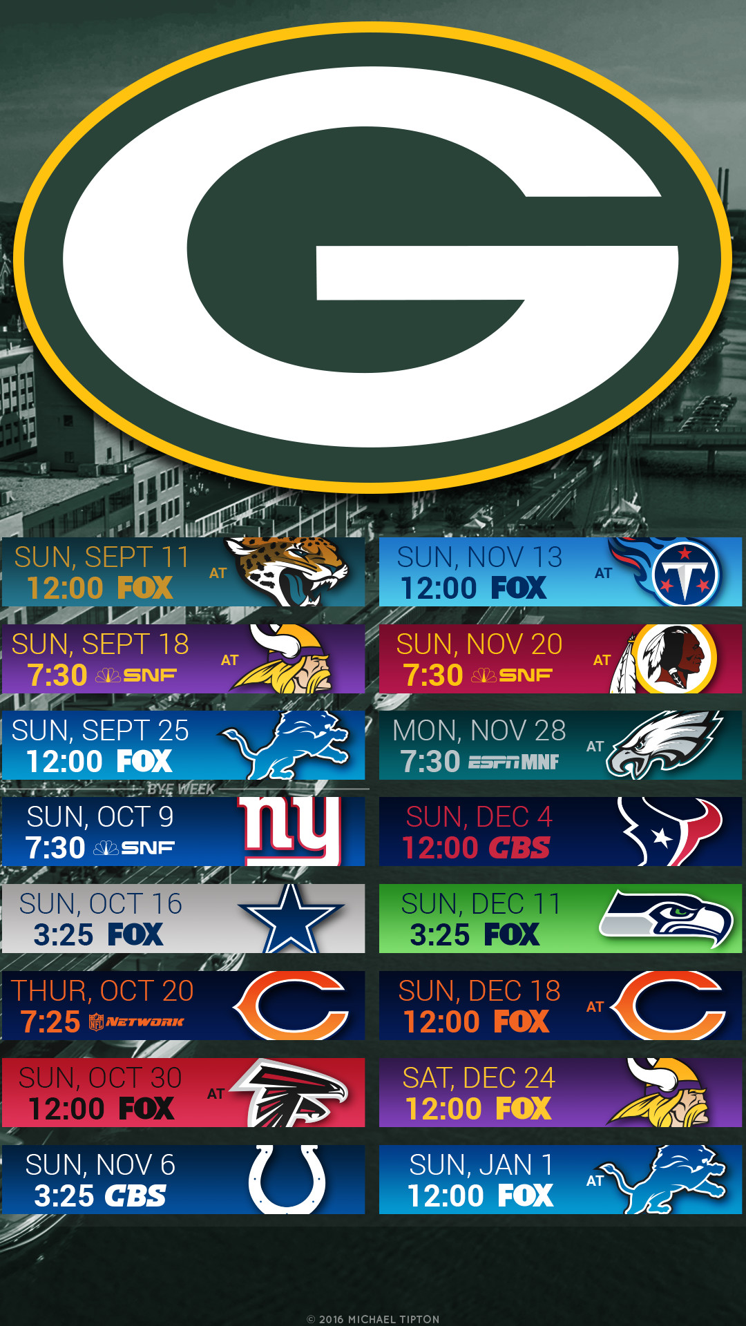 The Highest Quality Green Bay Packers Football Schedule Wallpapers and Logo  Backgrounds for iPhone, Andriod, Galaxy, and Desktop PC.