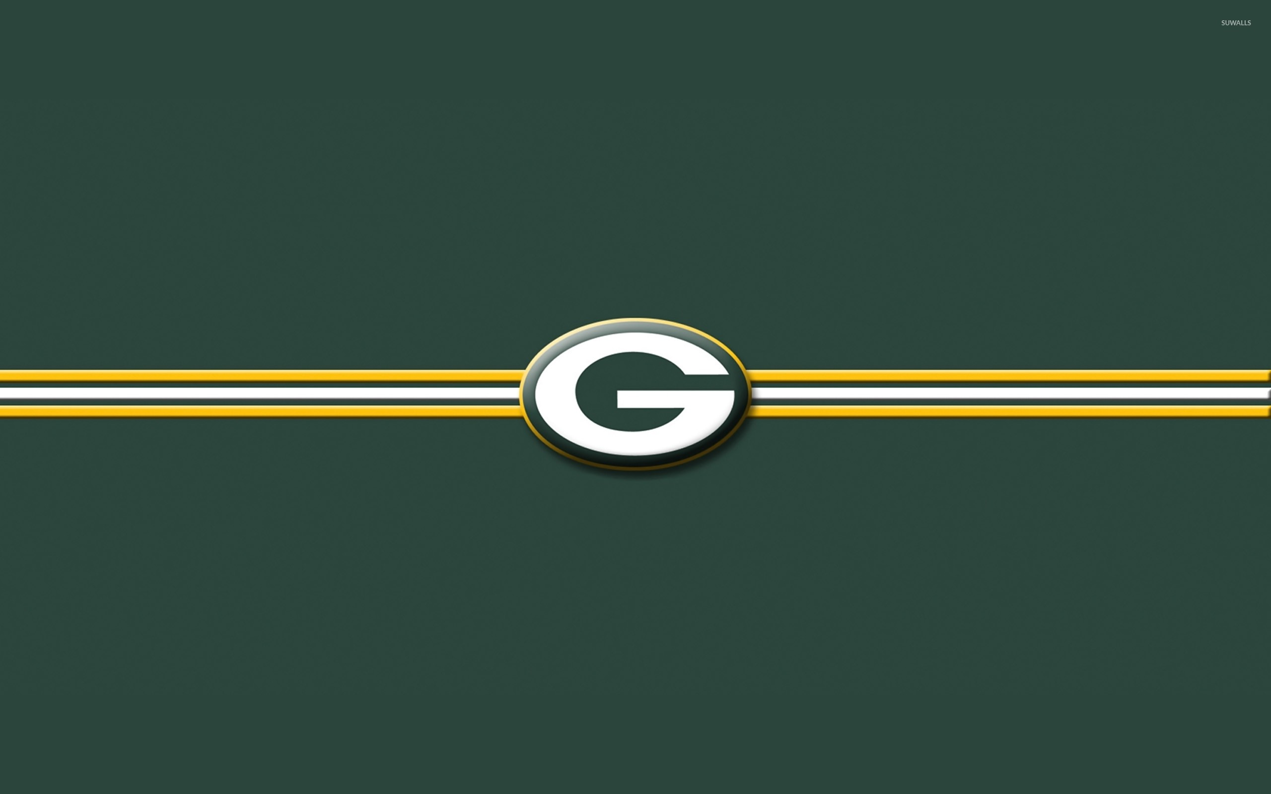 Green Bay Packers on green background wallpaper