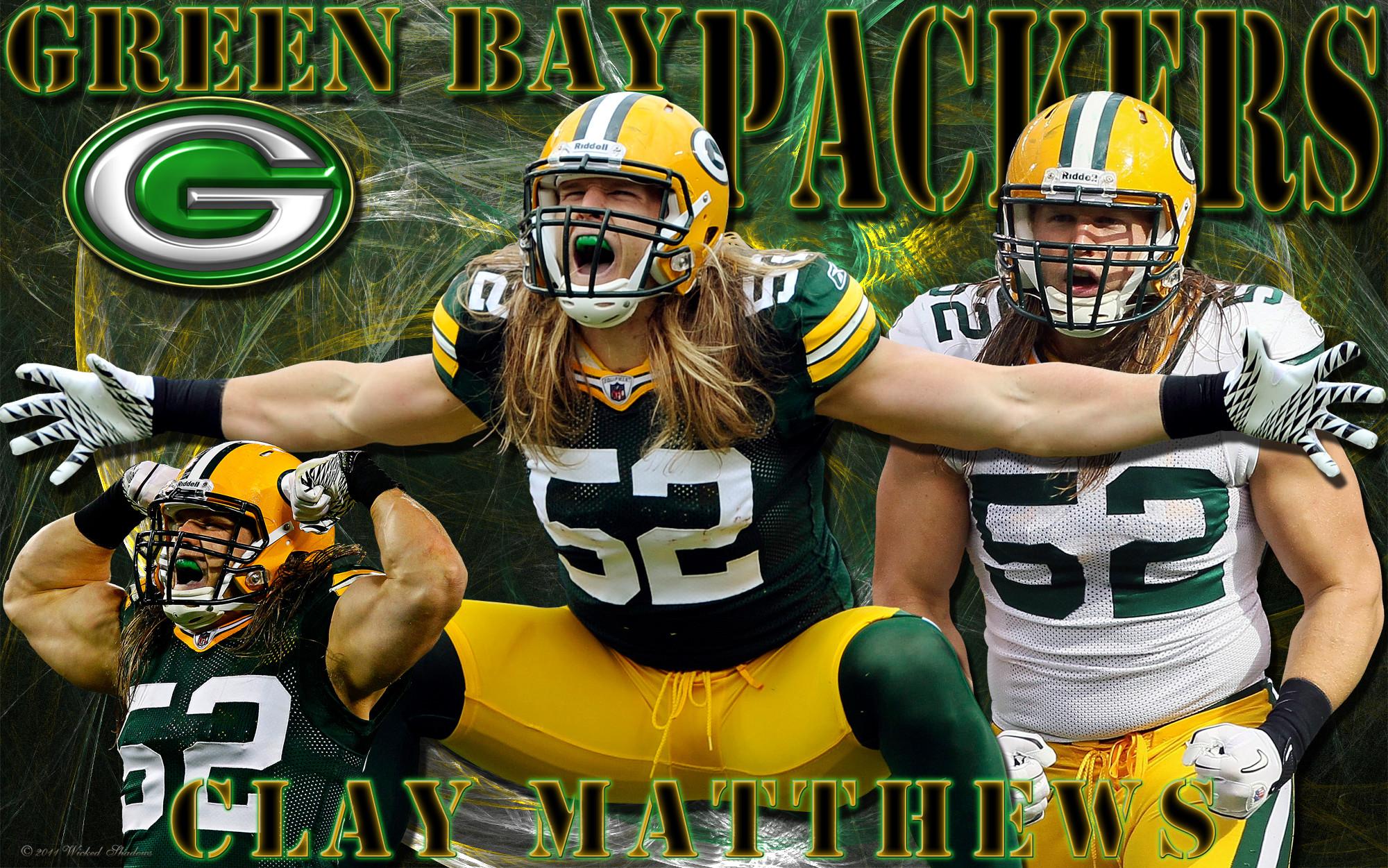 4×3 Standard | 16×9 Widescreen | 16×10 Widescreen Clay Matthews Green Bay  Packers Wallpaper.