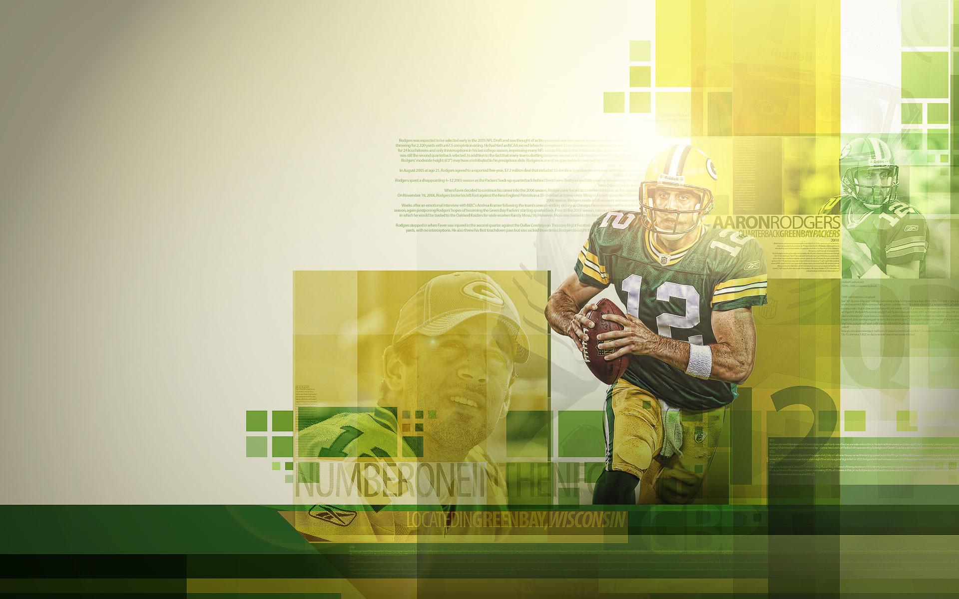 Aaron Rodgers Green Bay Packers Widescreen Wallpaper
