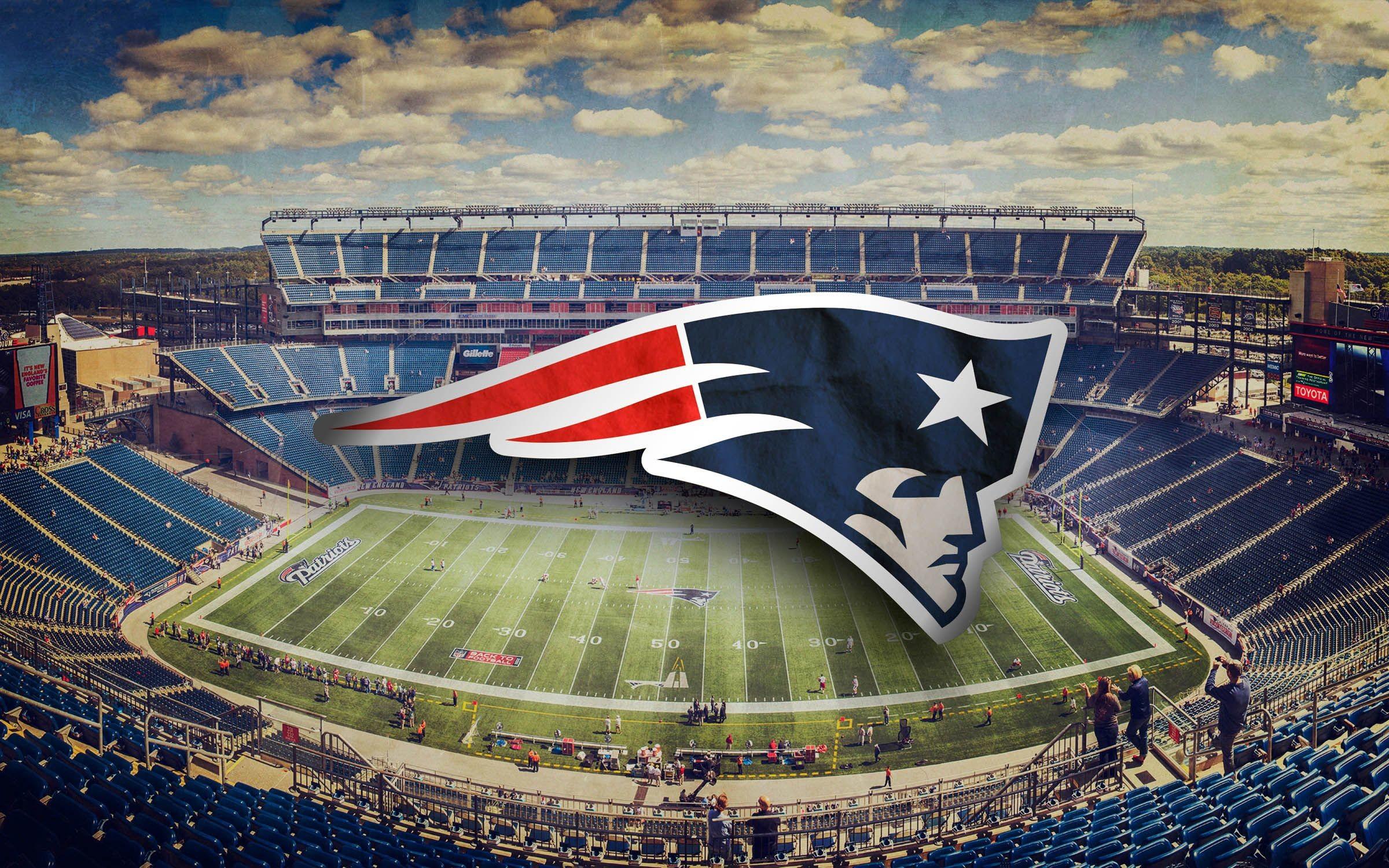 New England Patriots Wallpaper – Logo and Stadium Photo