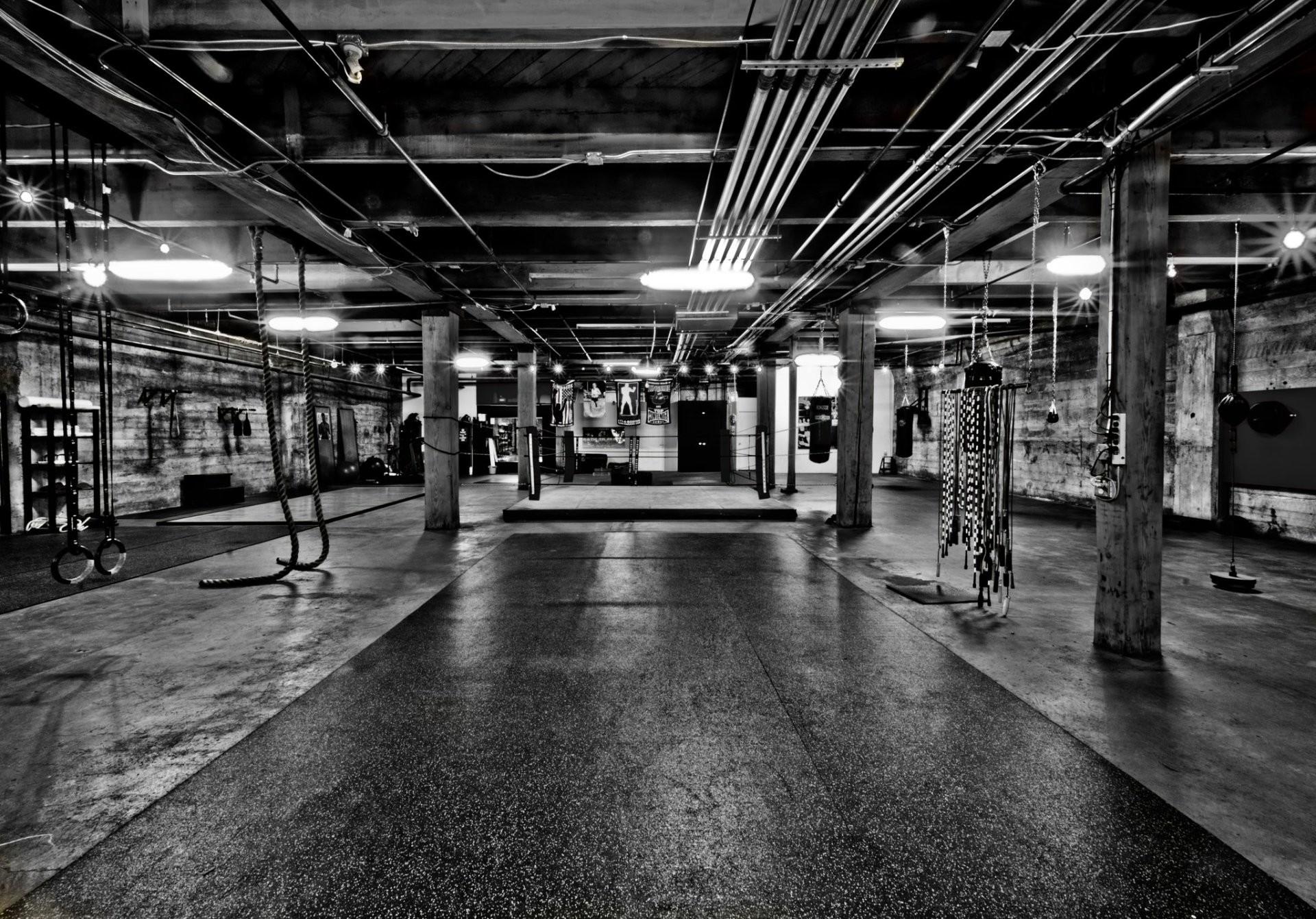 Sports – Gym Boxing Black & White Bakgrund