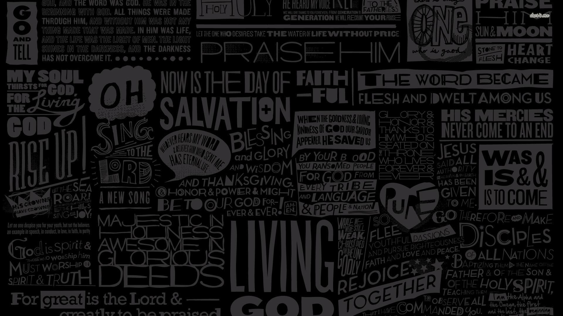 Religious typography wallpaper 1920×1080