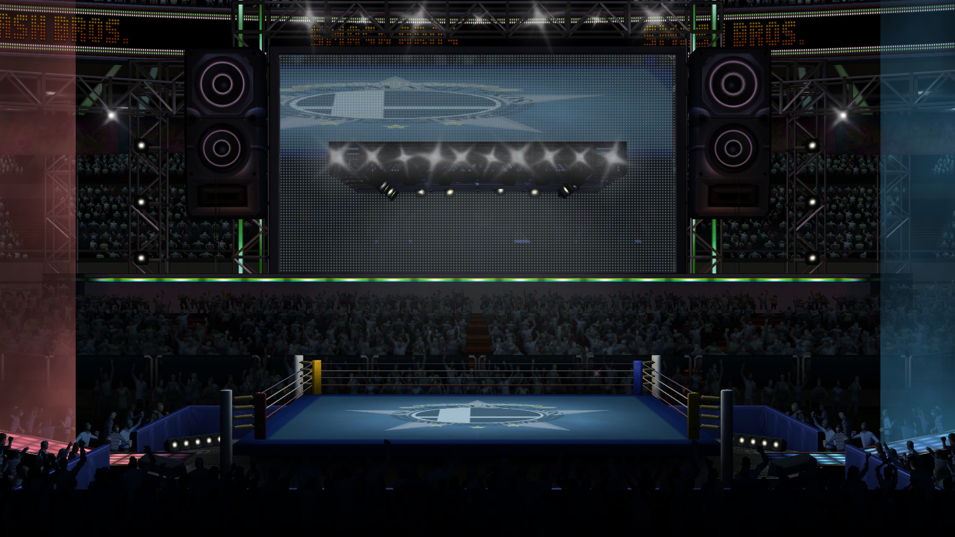 … SSBB Stages – SmashU Boxing Ring (WIP) by DSX8