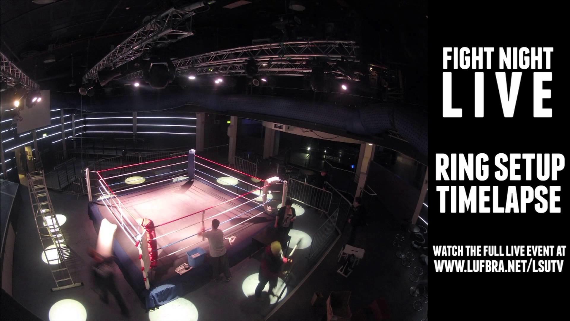 Kickboxing Ring Setup Time Lapse