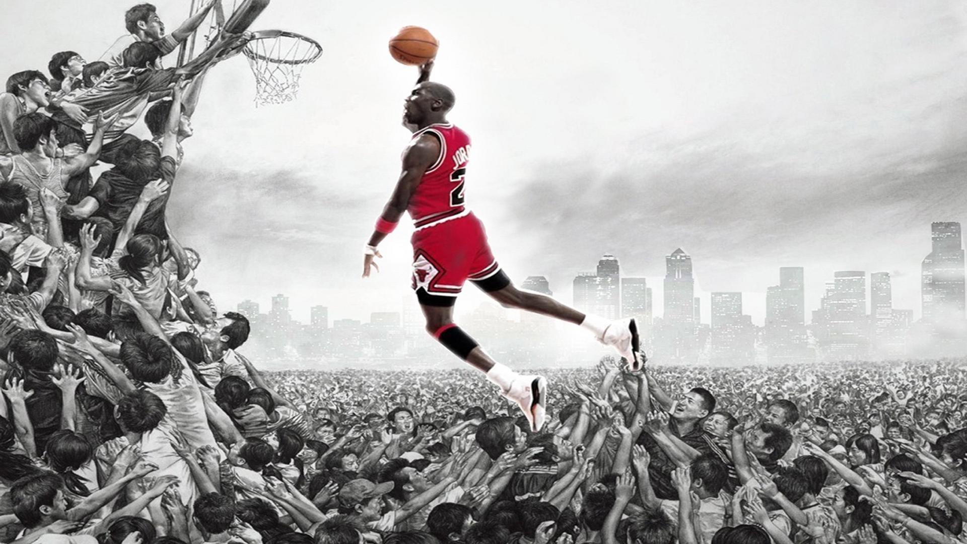 Michael Jordan Dunk Wallpaper   fourwallsonly.com