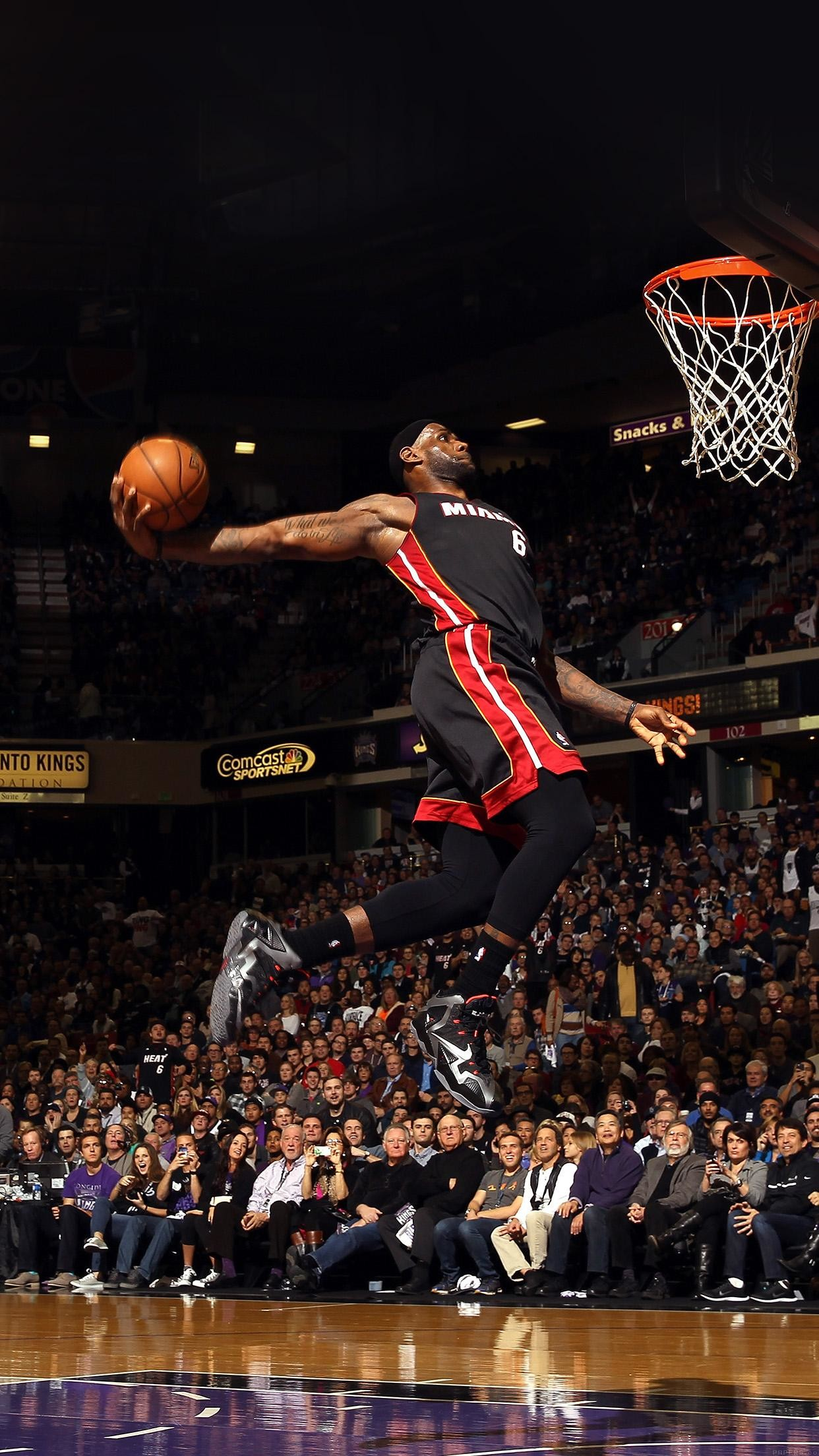 Lebron James Dunk Nba Sports Art Basketball