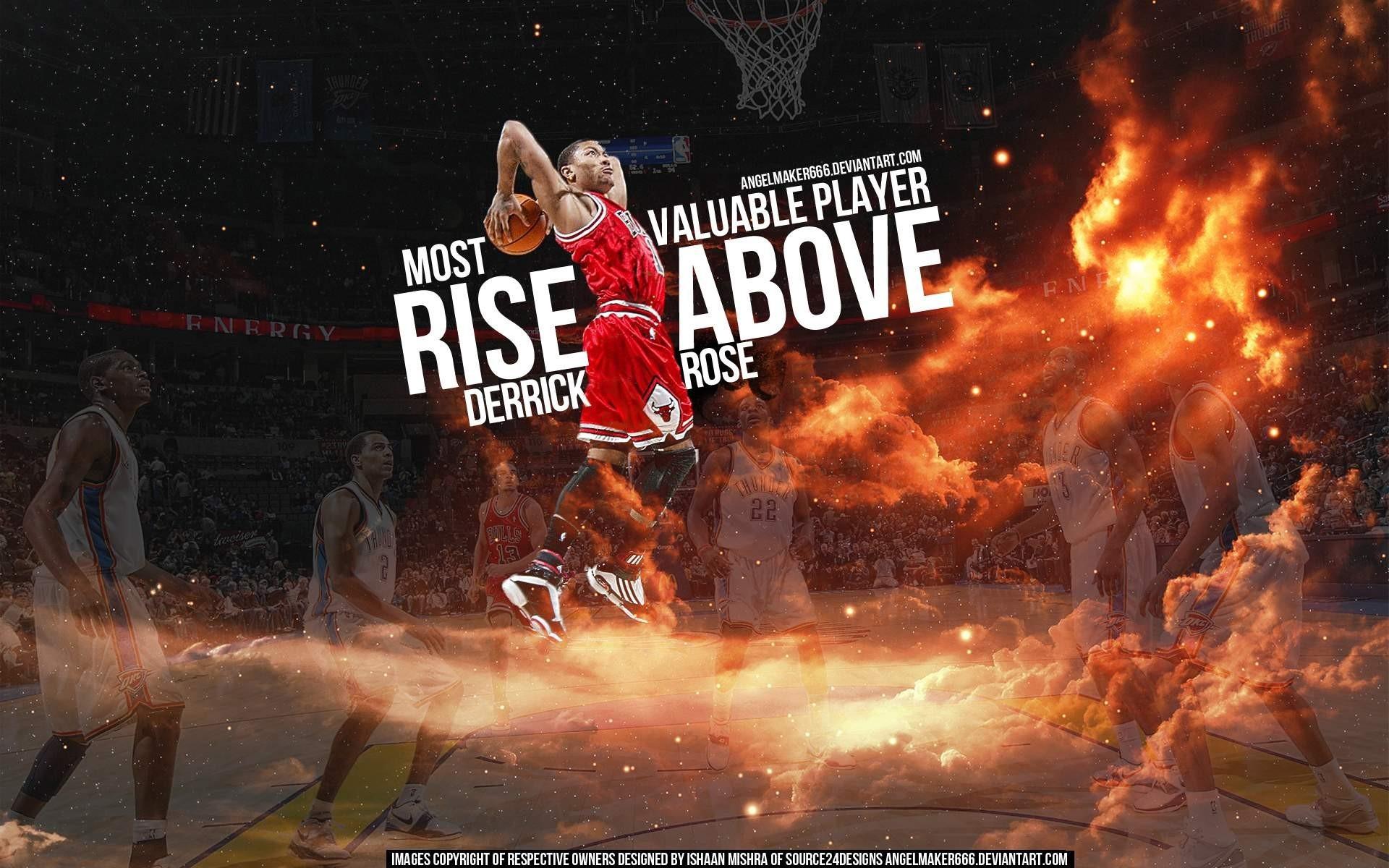 nba   You are going over Fire Slam Dunk NBA Basketball Derrick Rose Cloud  .. Michael Jordan BasketballNba BasketballRose WallpaperDerrick …