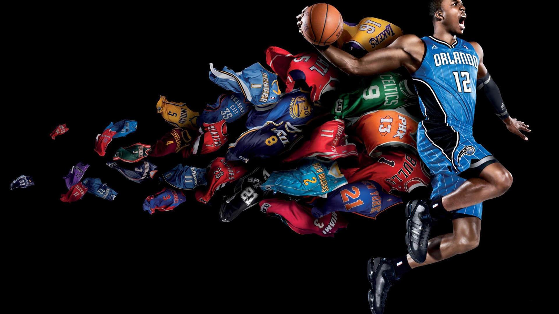 NBA Flying Colors Dunk wallpaper