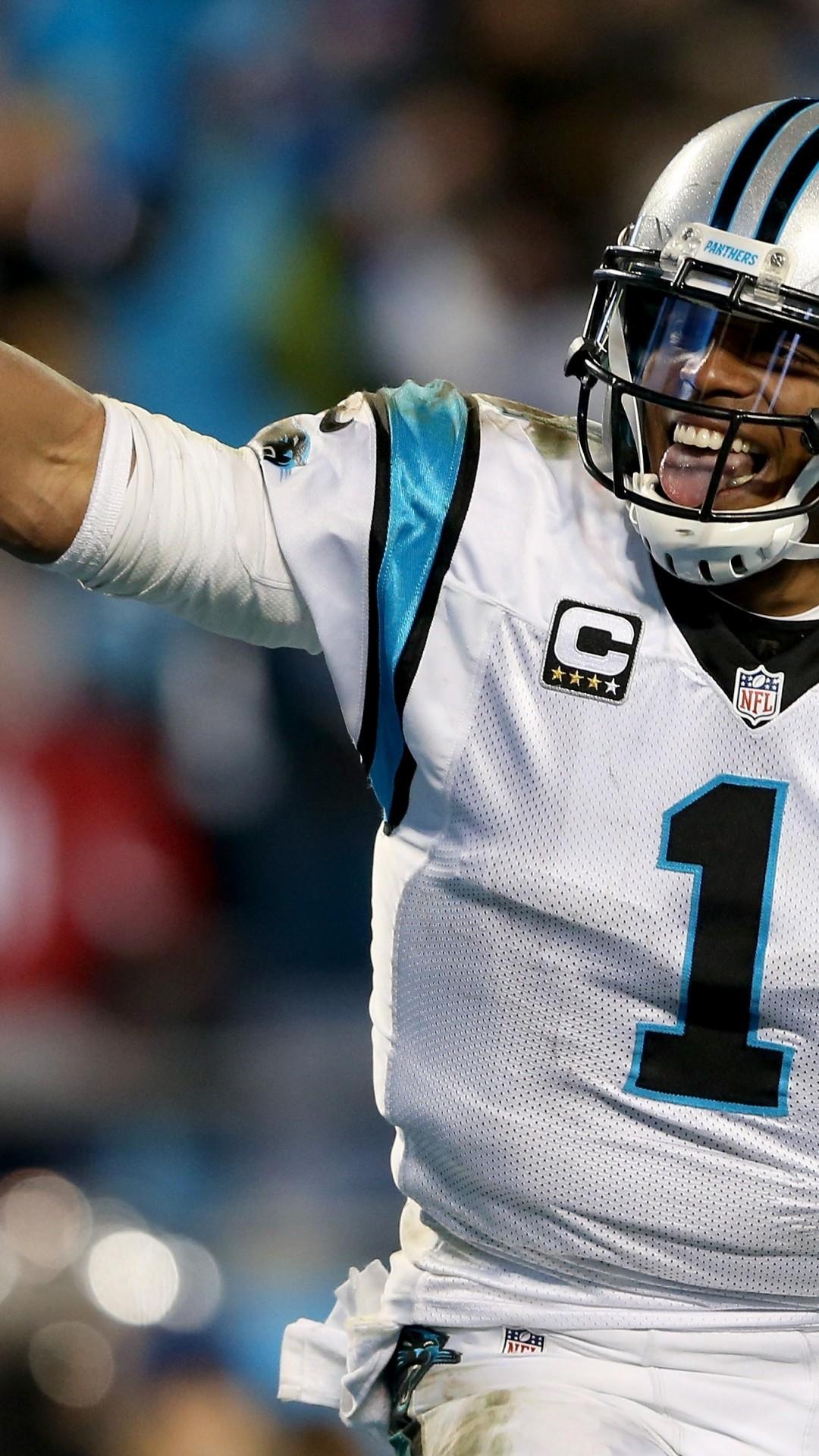 Cam Newton, American Football, Carolina Panthers, Smiling