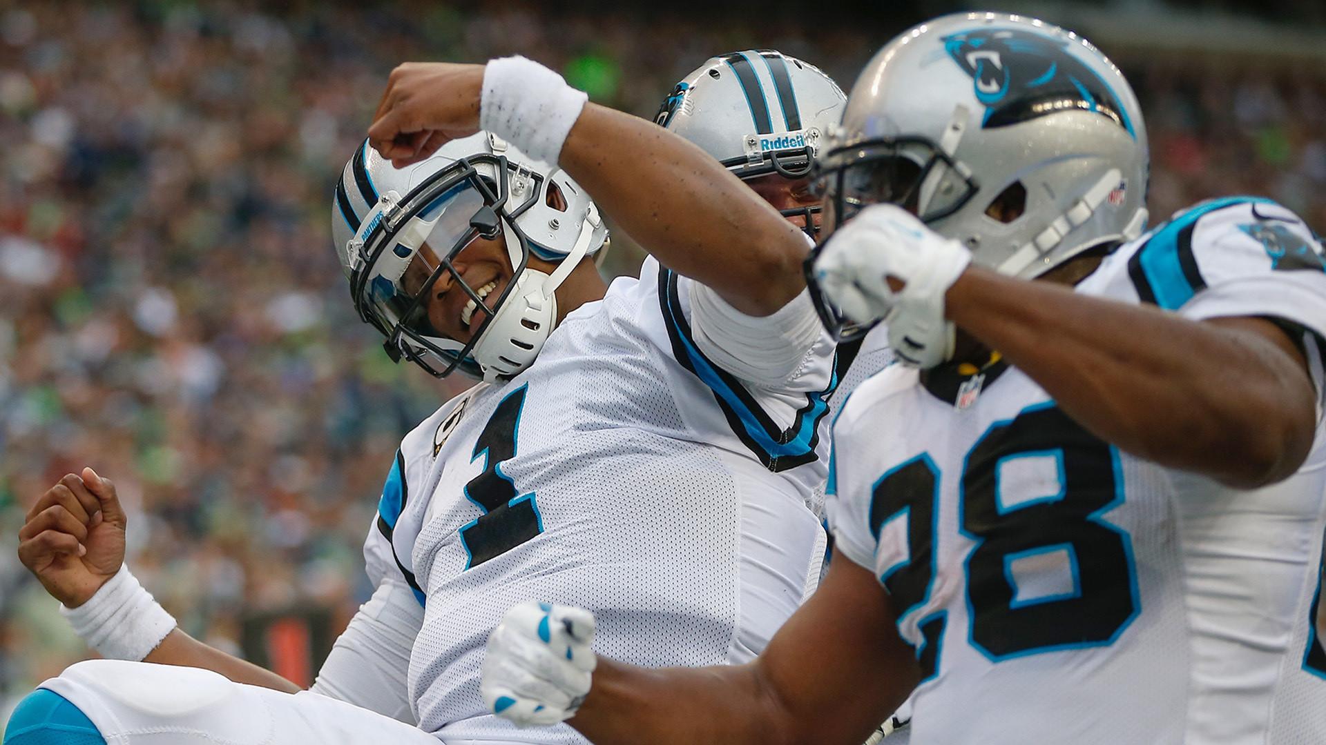 """Cam Newton Starts """"Dabbin"""" After Touchdown – Seahawks Fan VideosSeahawks  Fan Videos"""