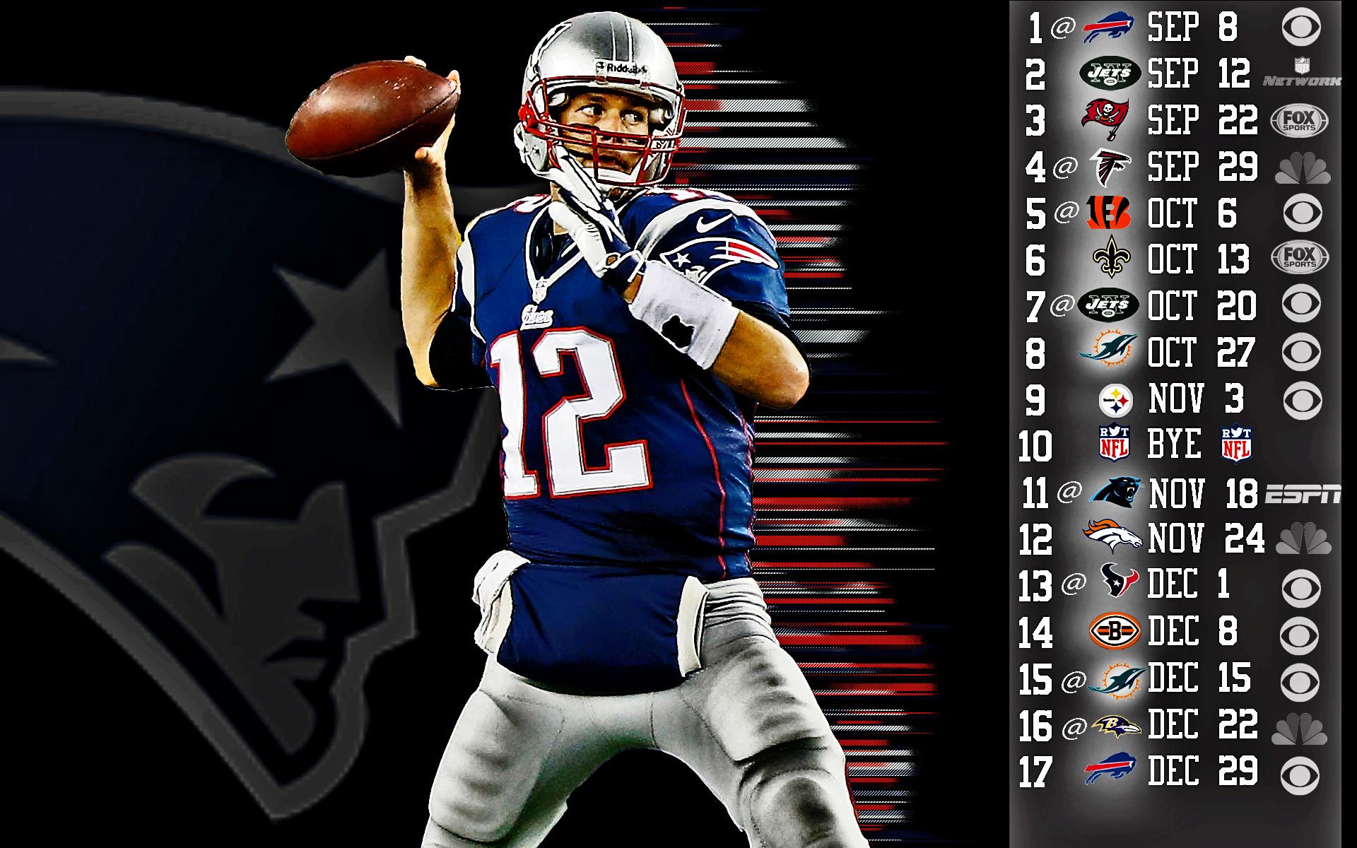 New England Patriots. Tom Brady 2013 Wallpaper HDR