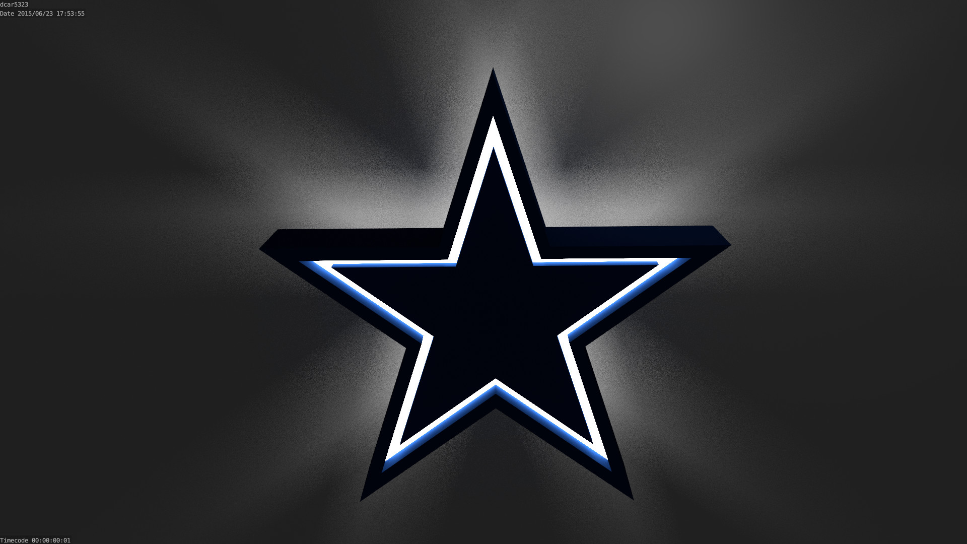 I'm learning how to 3D Model, so I'm recreating NFL logos as practice.  Here's the Cowboys logo!