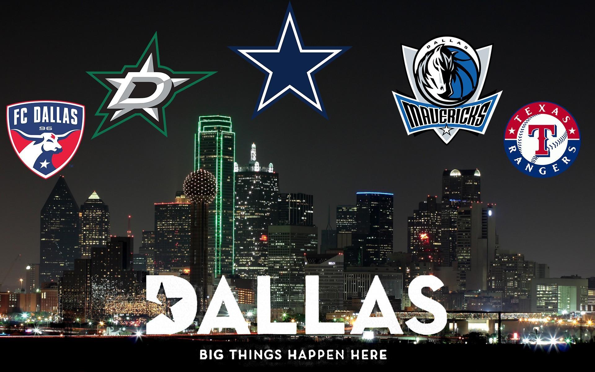 Dallas Wallpaper featuring Major Sports Teams …