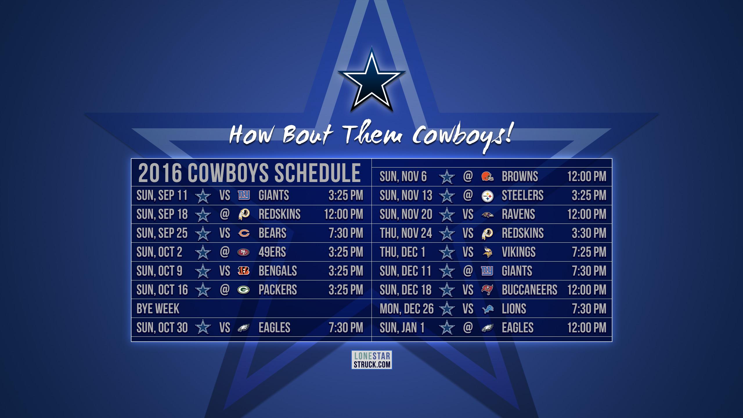 … Dallas Cowboys Schedule Wallpaper …