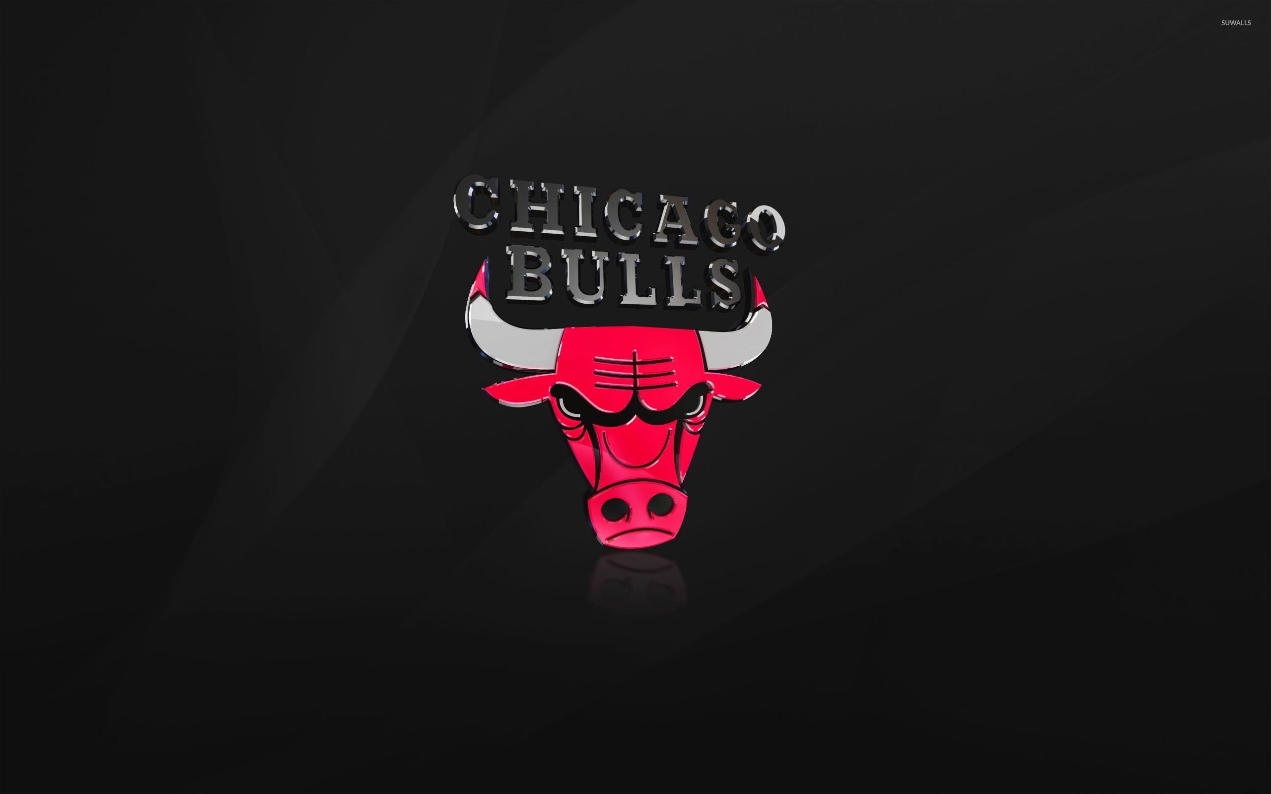 Shiny Chicago Bulls logo wallpaper