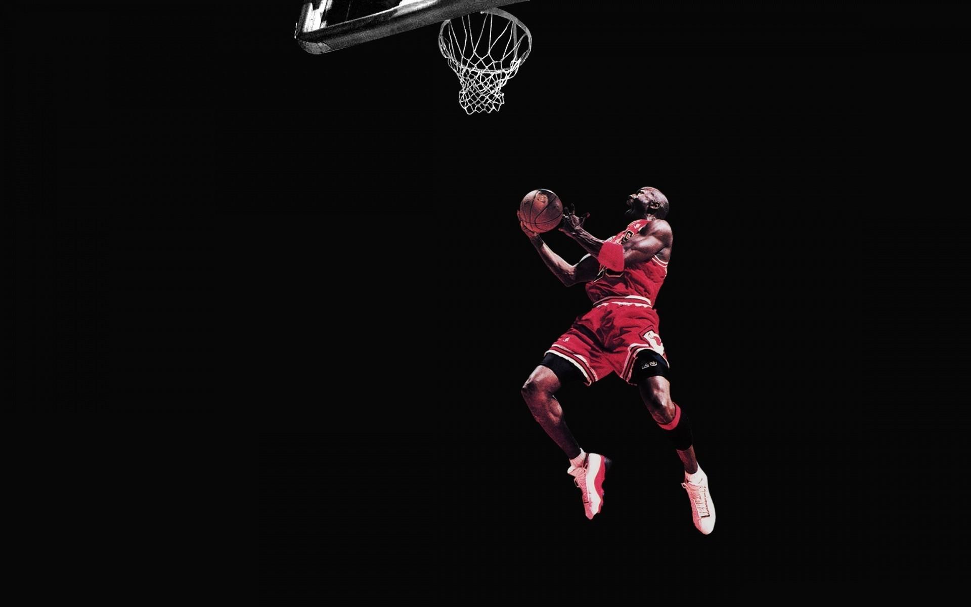 Michael Jordan Chicago Bulls Basketball Jump Black wallpaper .