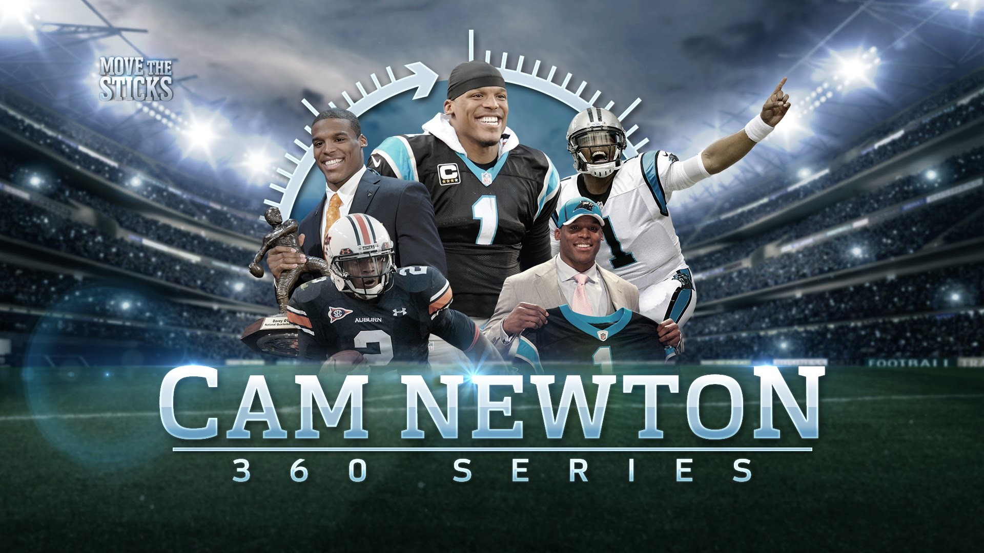 Cam Newton: From Junior College to MVP | Cam Newton 360 | Move the Sticks |  NFL