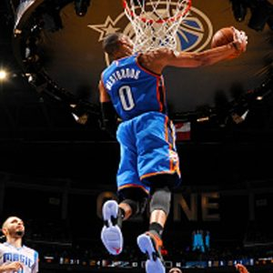 Russell Westbrook Dunking Wallpaper HD